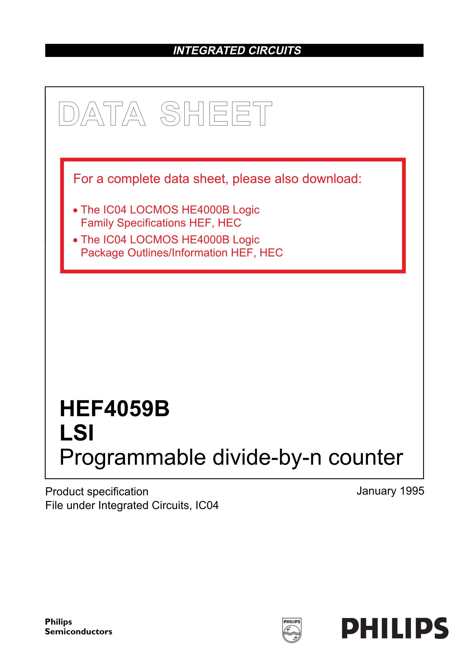 HEF4059BT's pdf picture 1