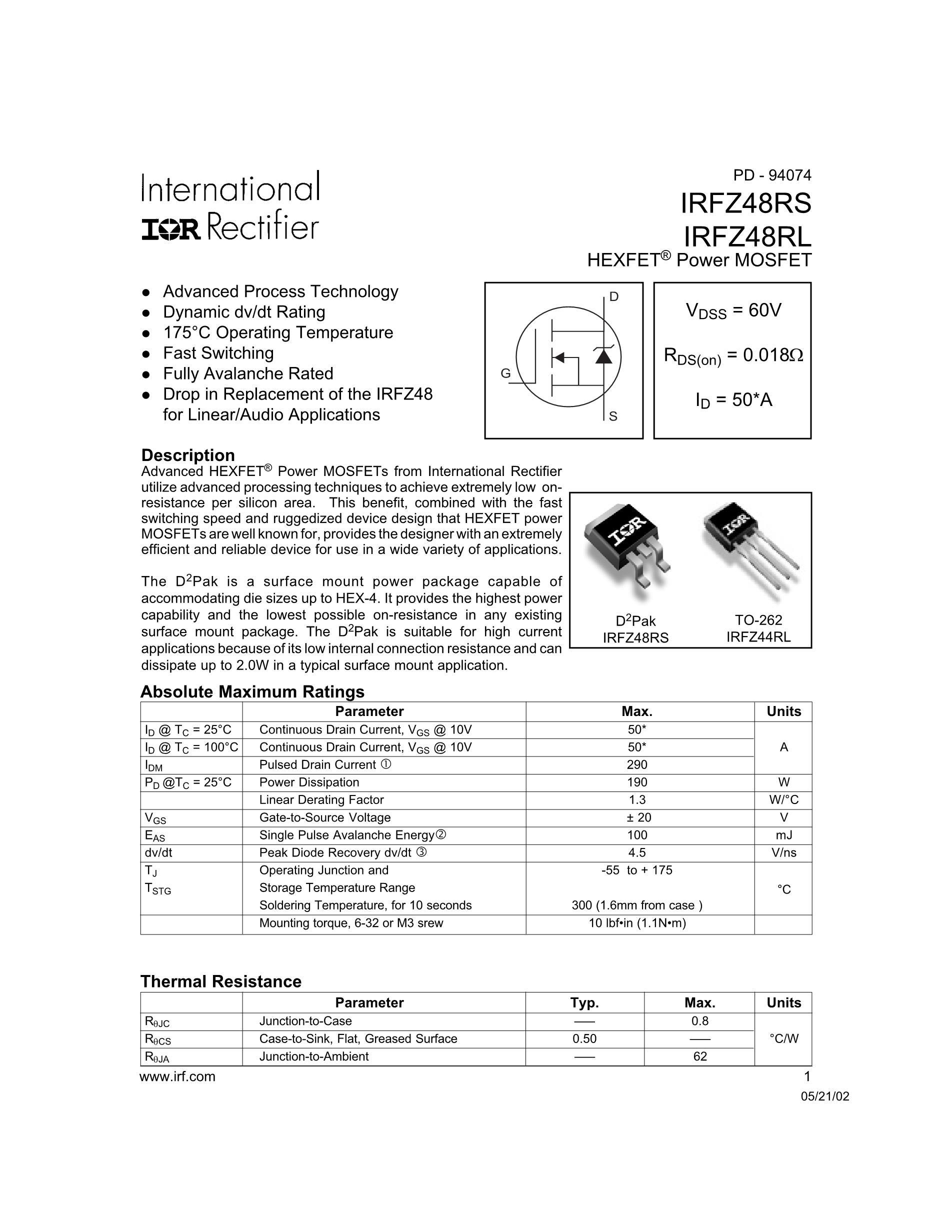 IRFZ48's pdf picture 1