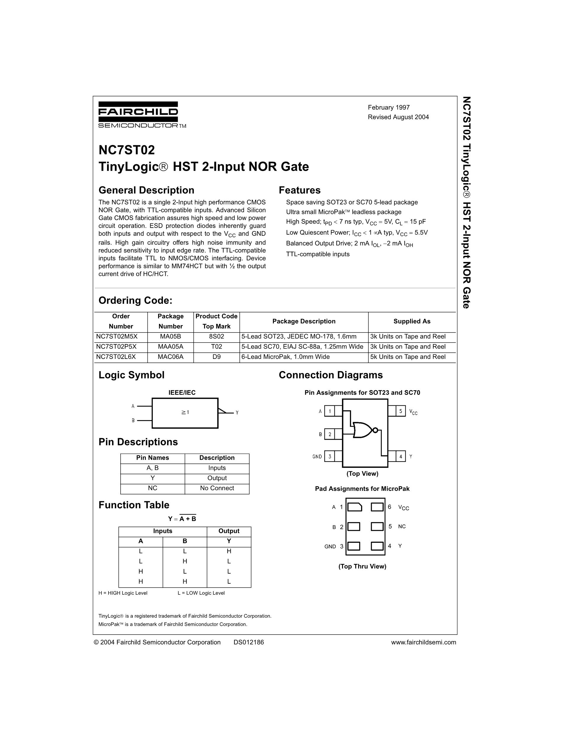 NC7SP19P6X's pdf picture 1