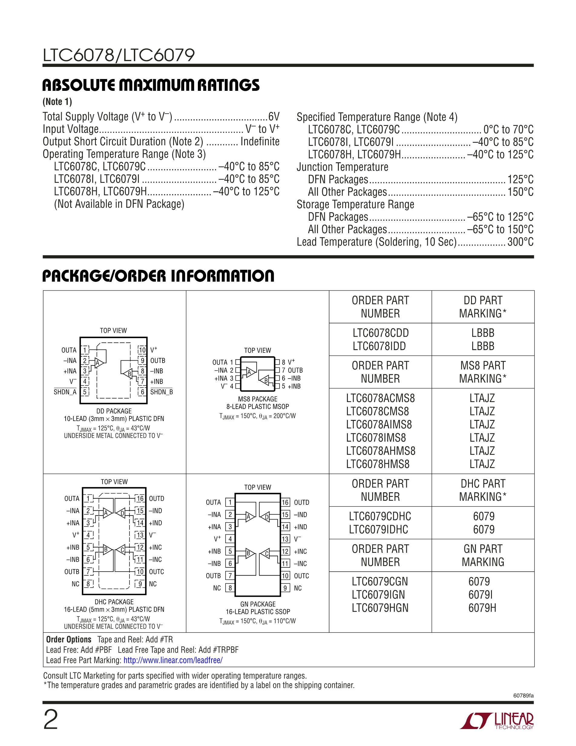 LTC6957IDD-2#PBF's pdf picture 2