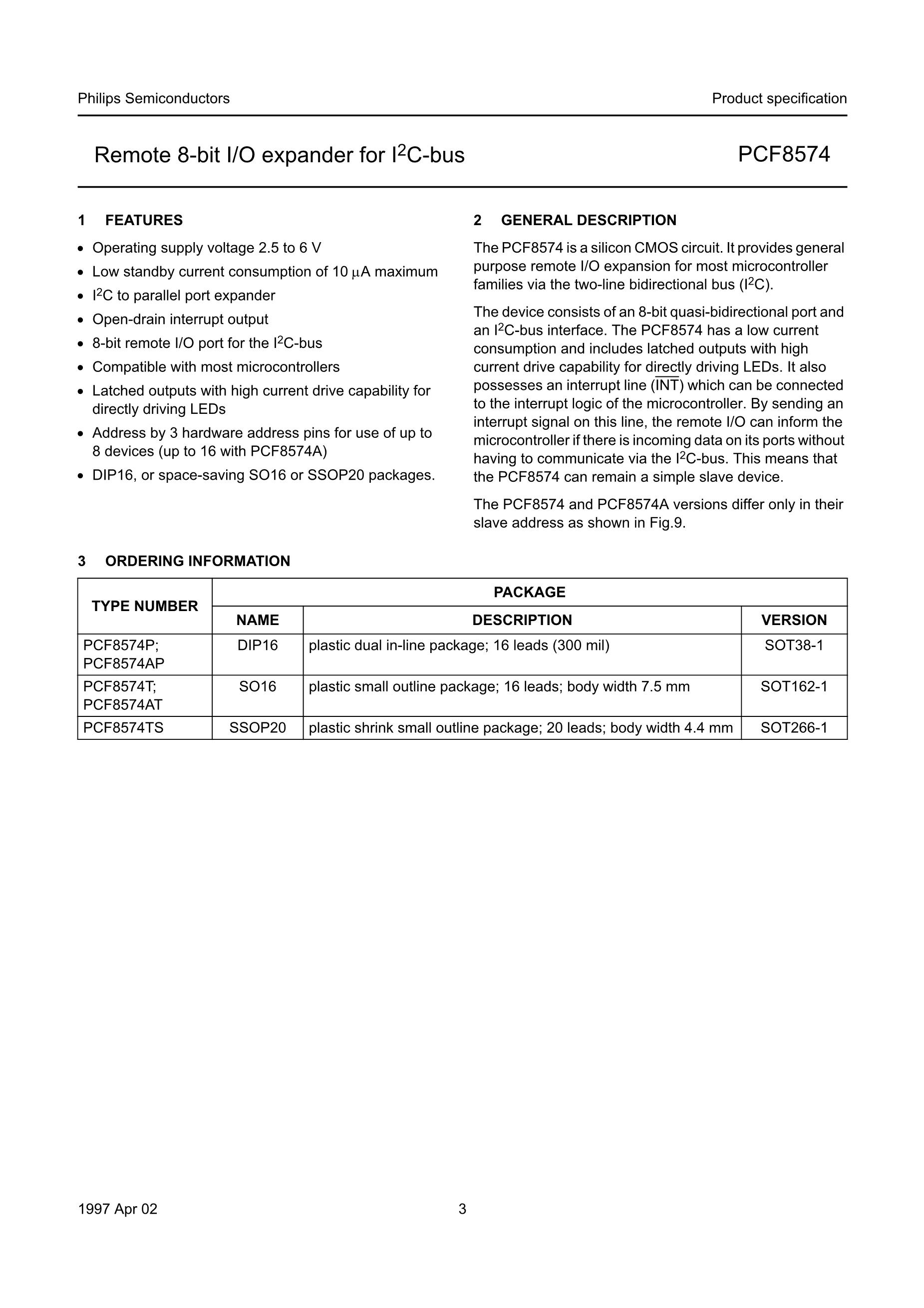 PCF8564AUG/12HB/1V's pdf picture 3
