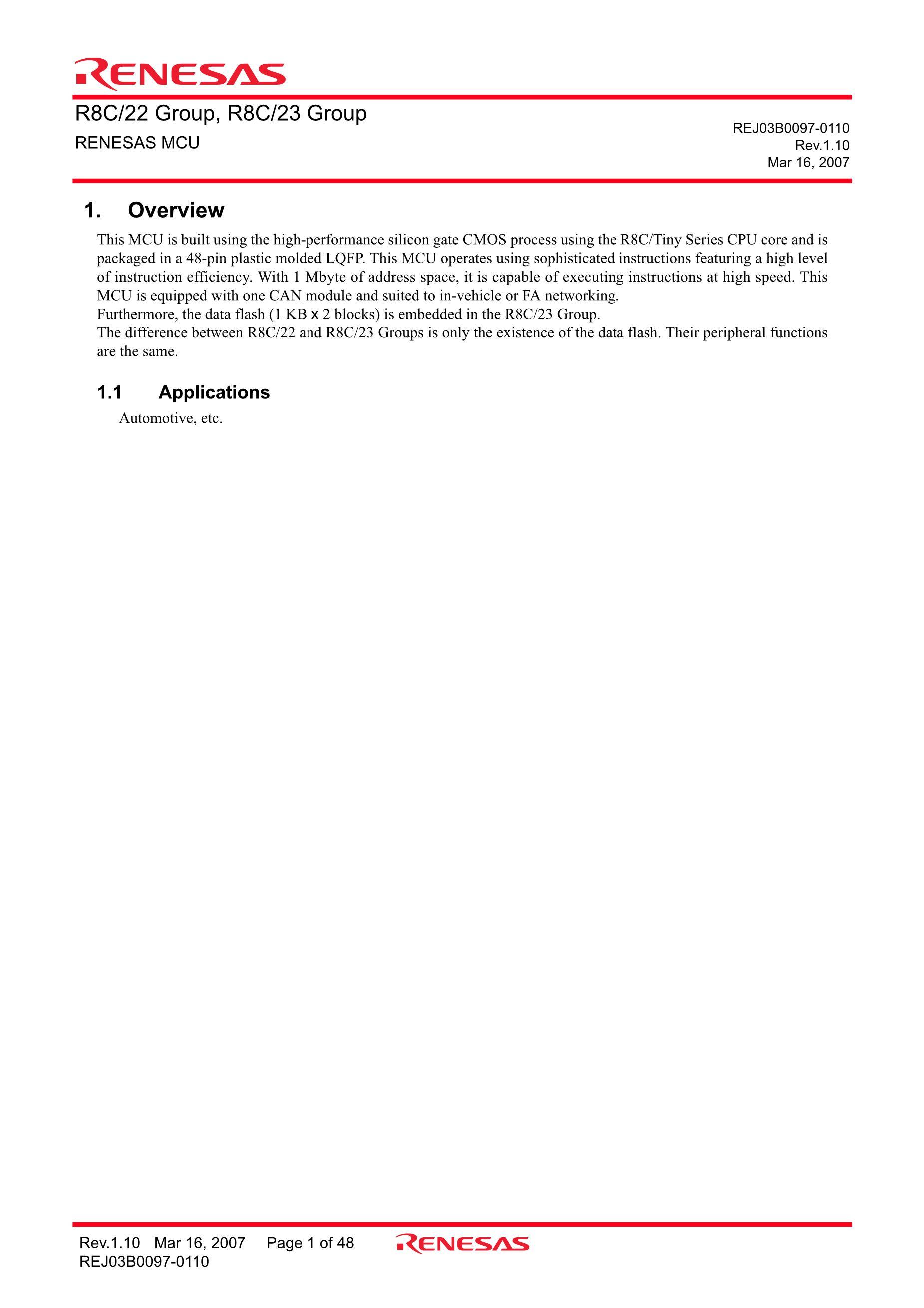 R5F212A8SNFA's pdf picture 1