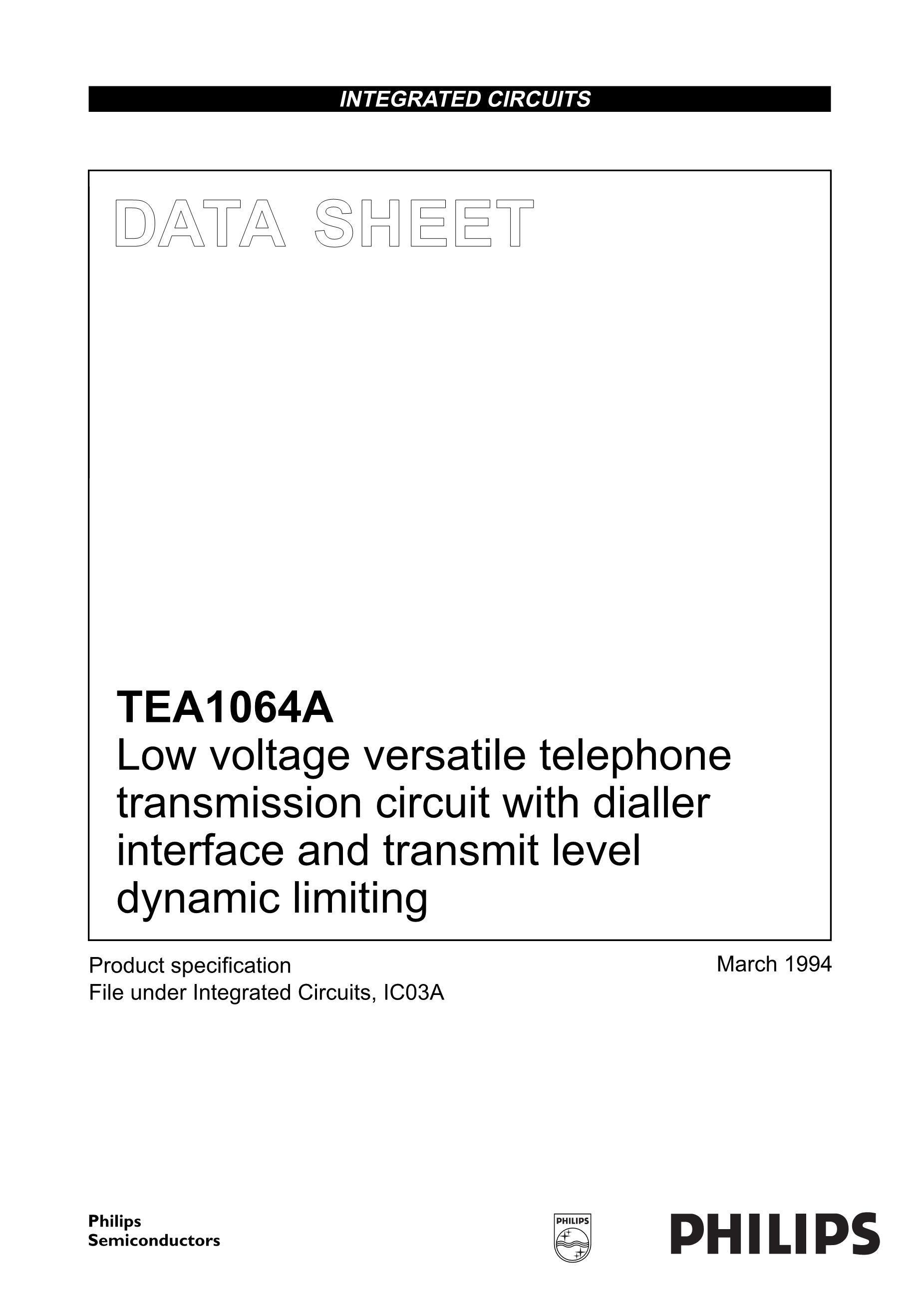TEA1530AT/N2/DG,11's pdf picture 1