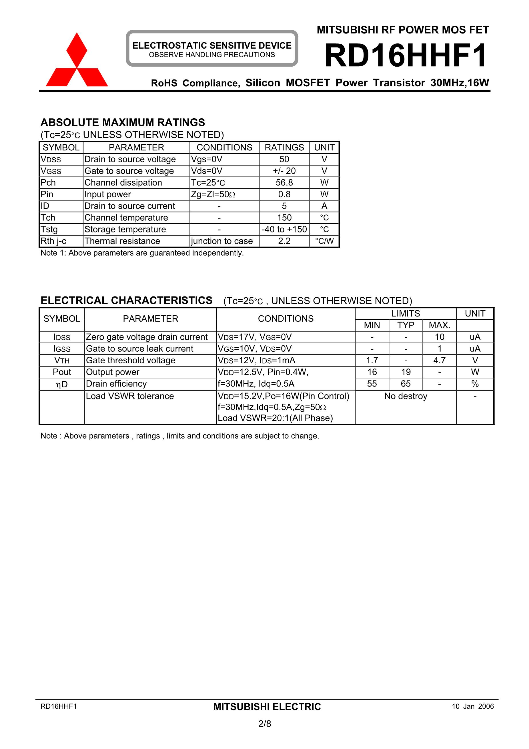 RD16HHF1,RD16HHF1-101's pdf picture 2