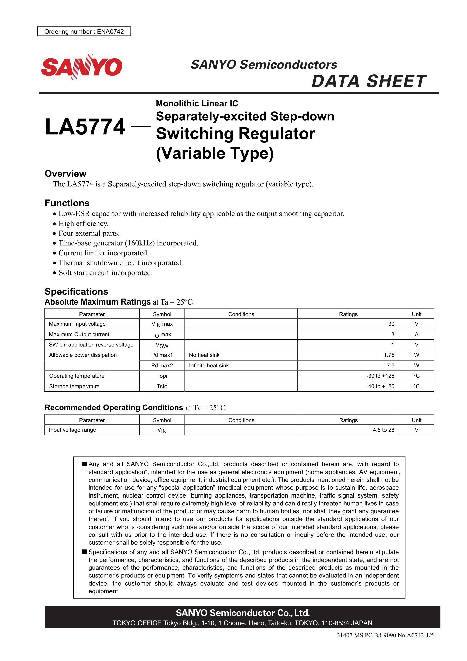LA5734MP-E's pdf picture 1