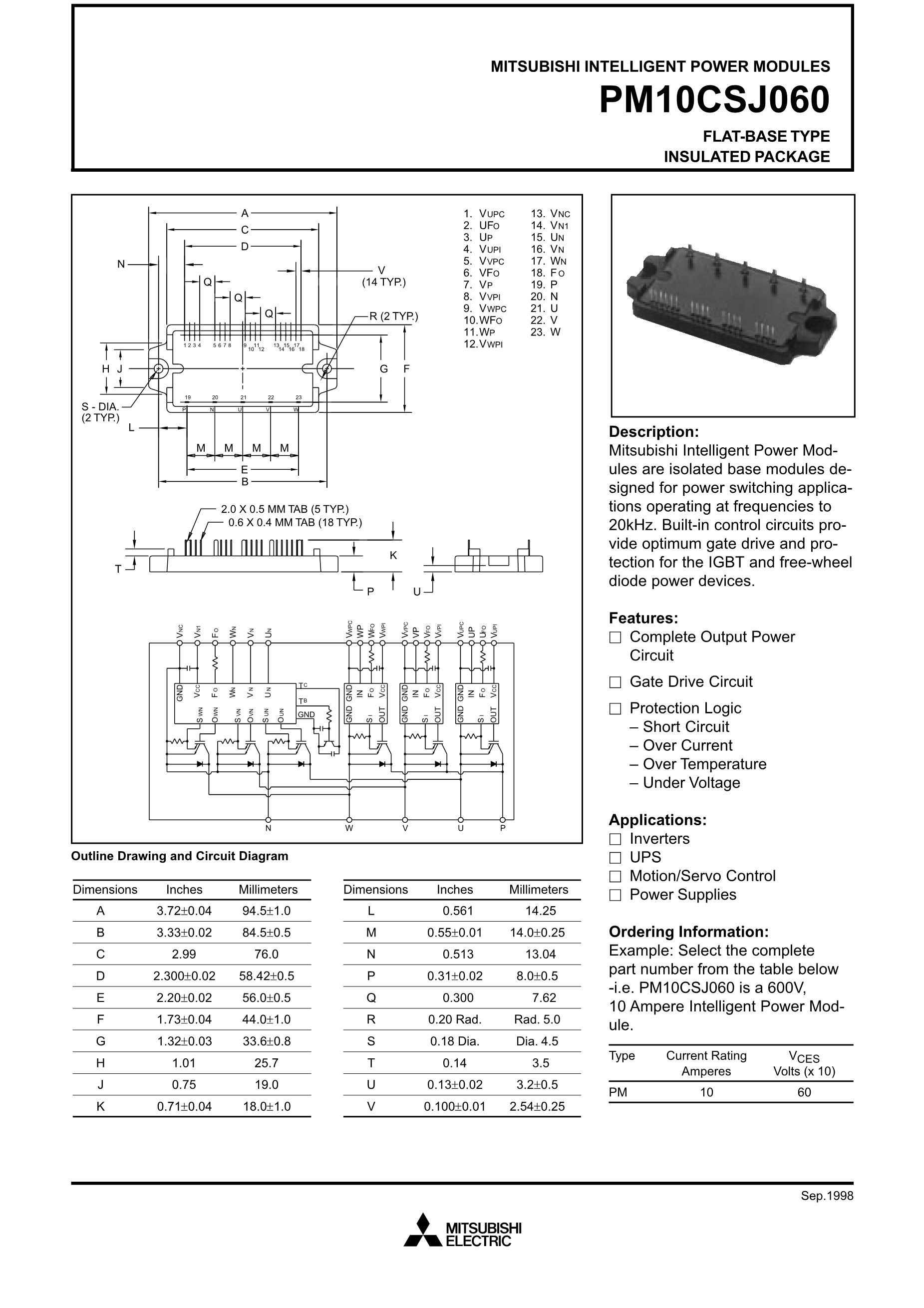 PM15RSH120's pdf picture 1