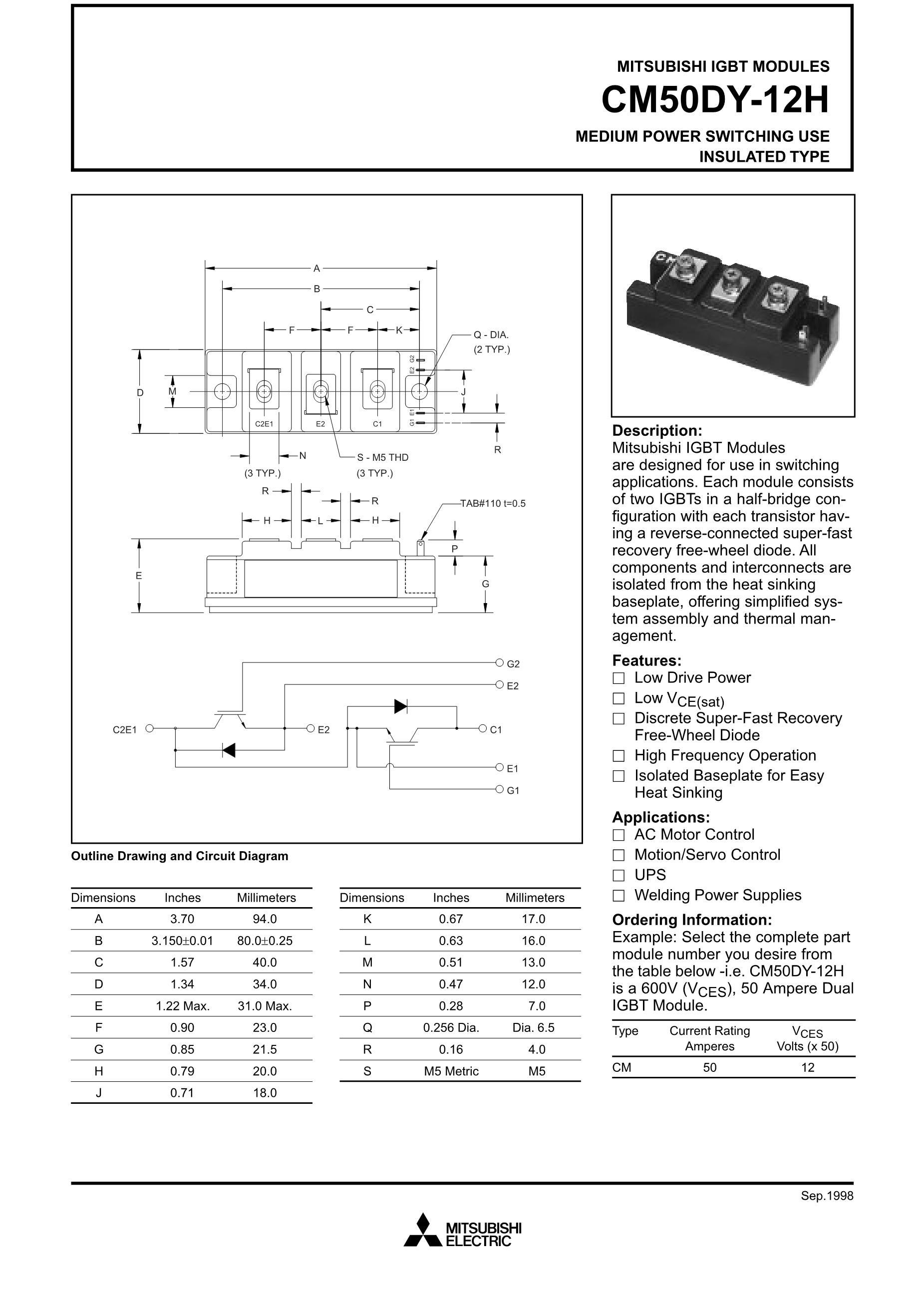 CM50AD12-12H's pdf picture 1