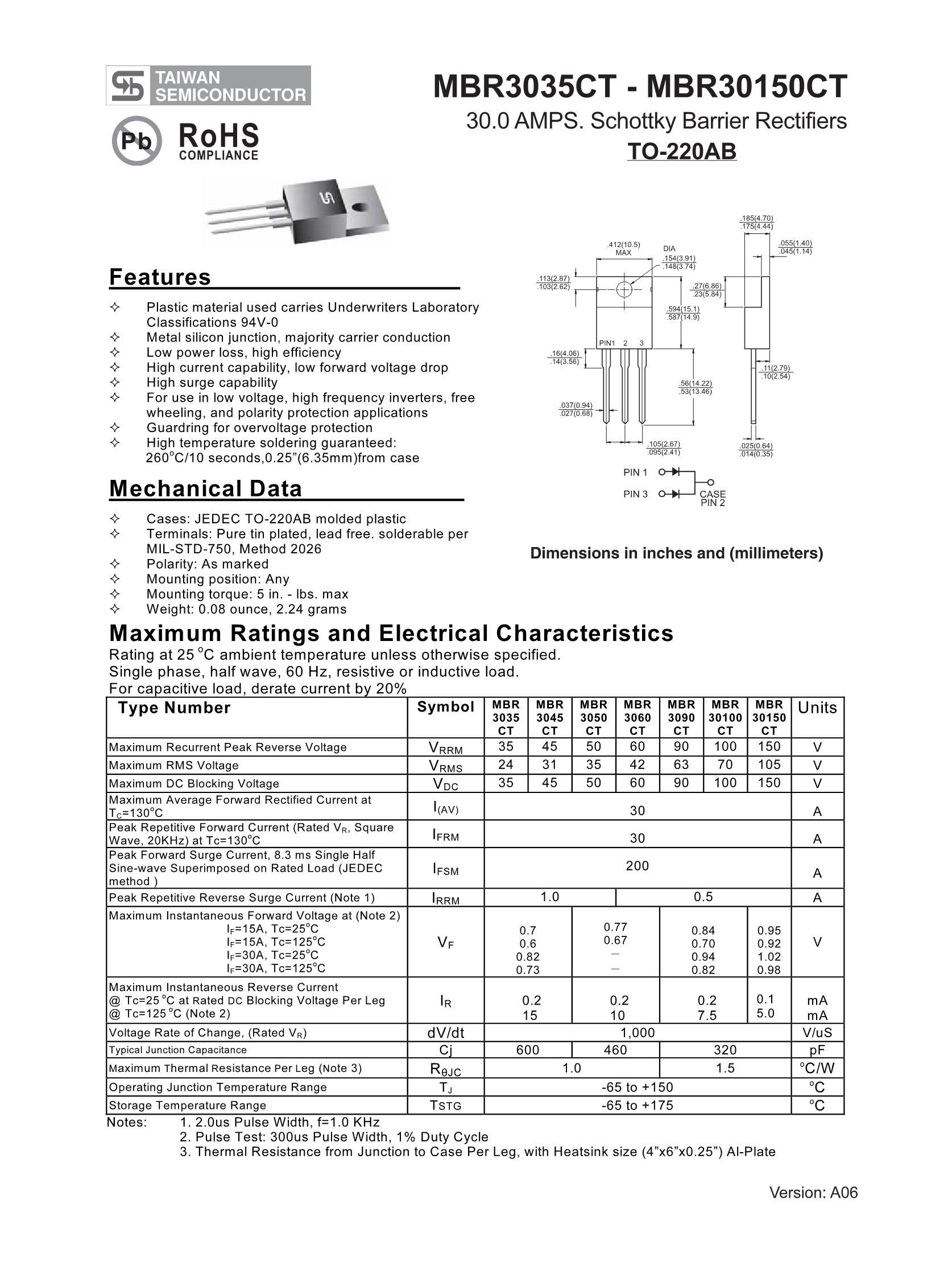 MBR3050CT C0's pdf picture 1