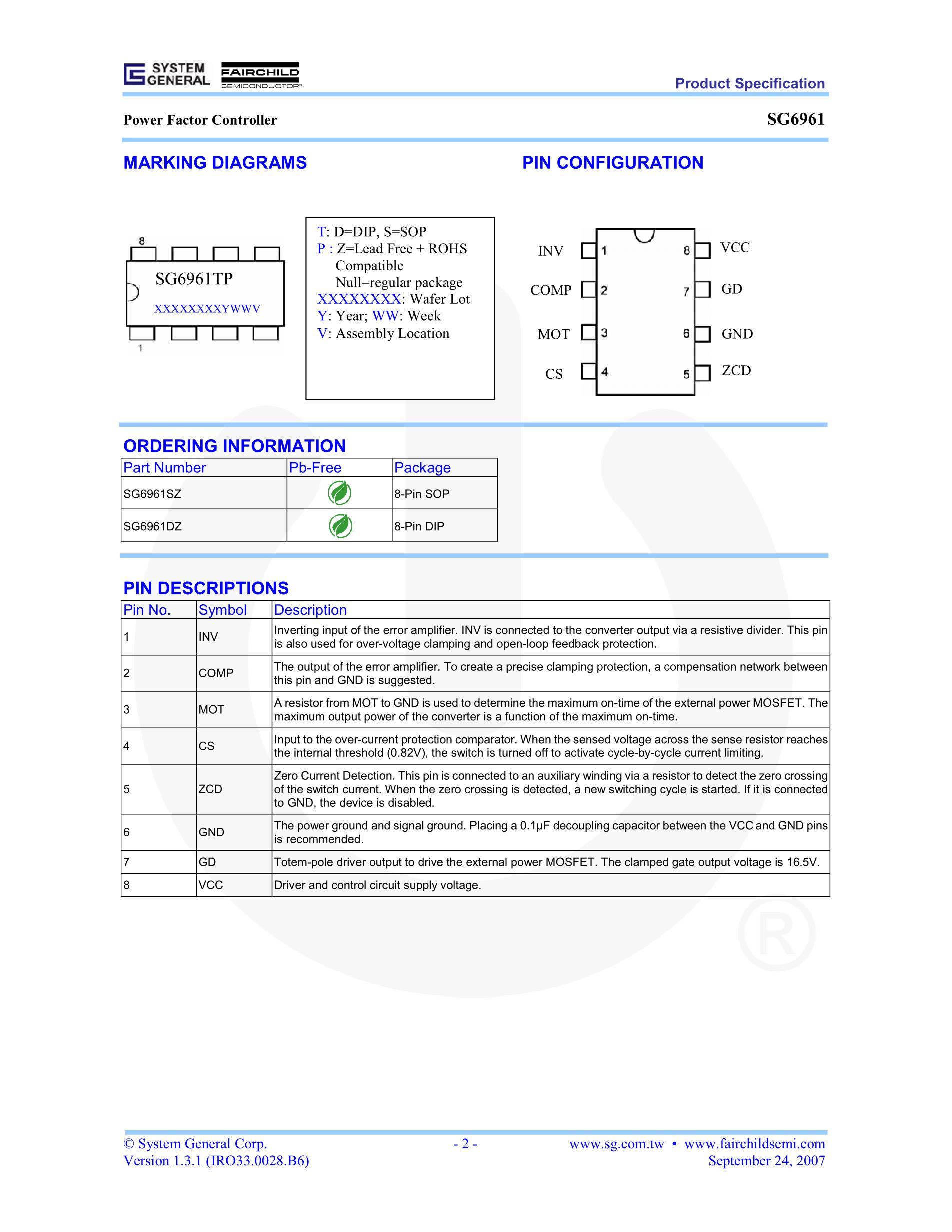 SG6961SZ's pdf picture 2