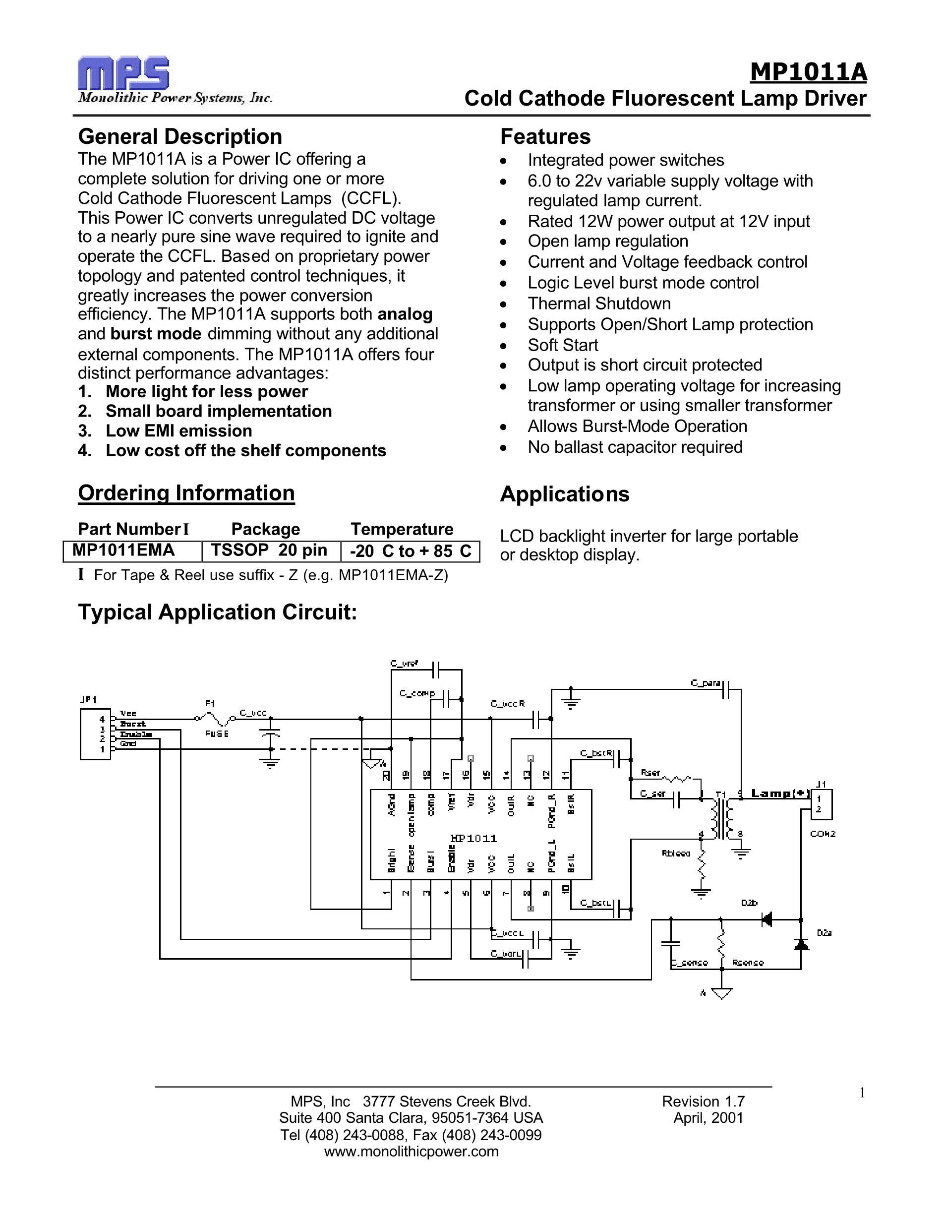 MP1016EF's pdf picture 1