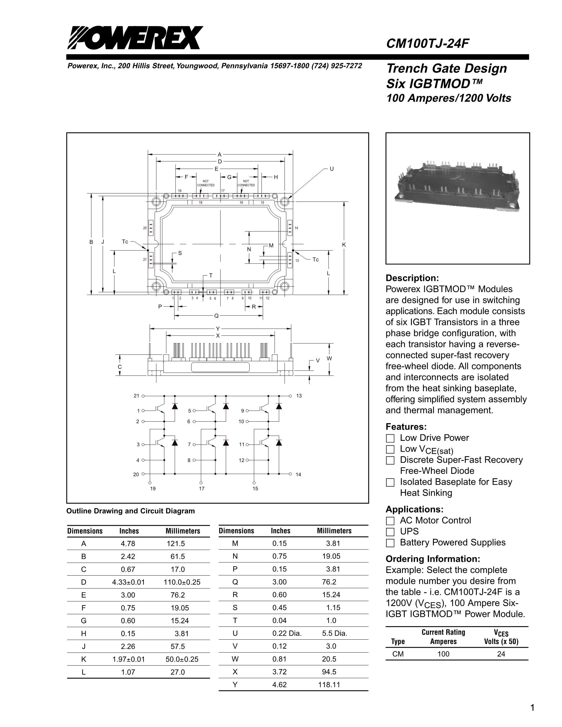 CM100DY-12E's pdf picture 1