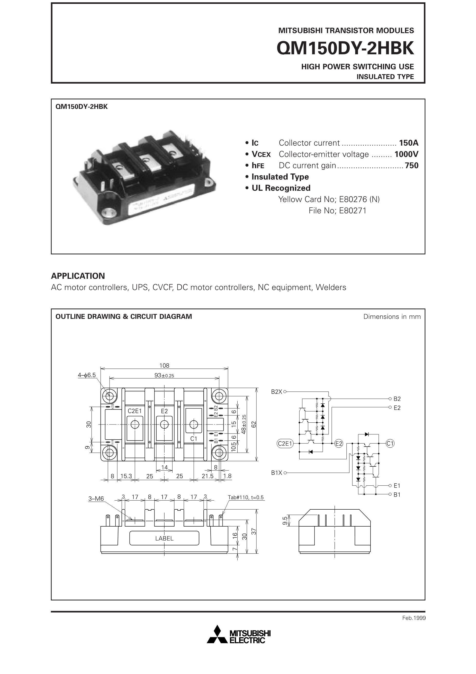 QM150DY-HBK's pdf picture 1