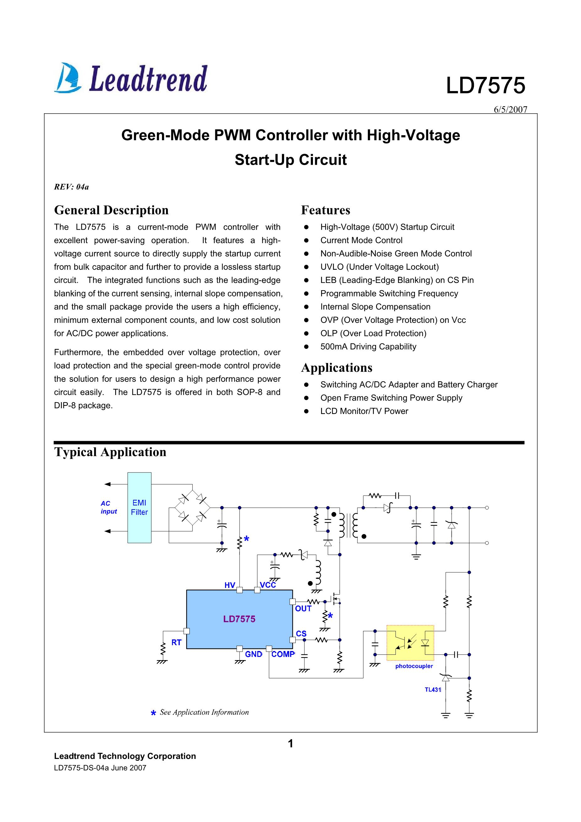 LD7575PN's pdf picture 1