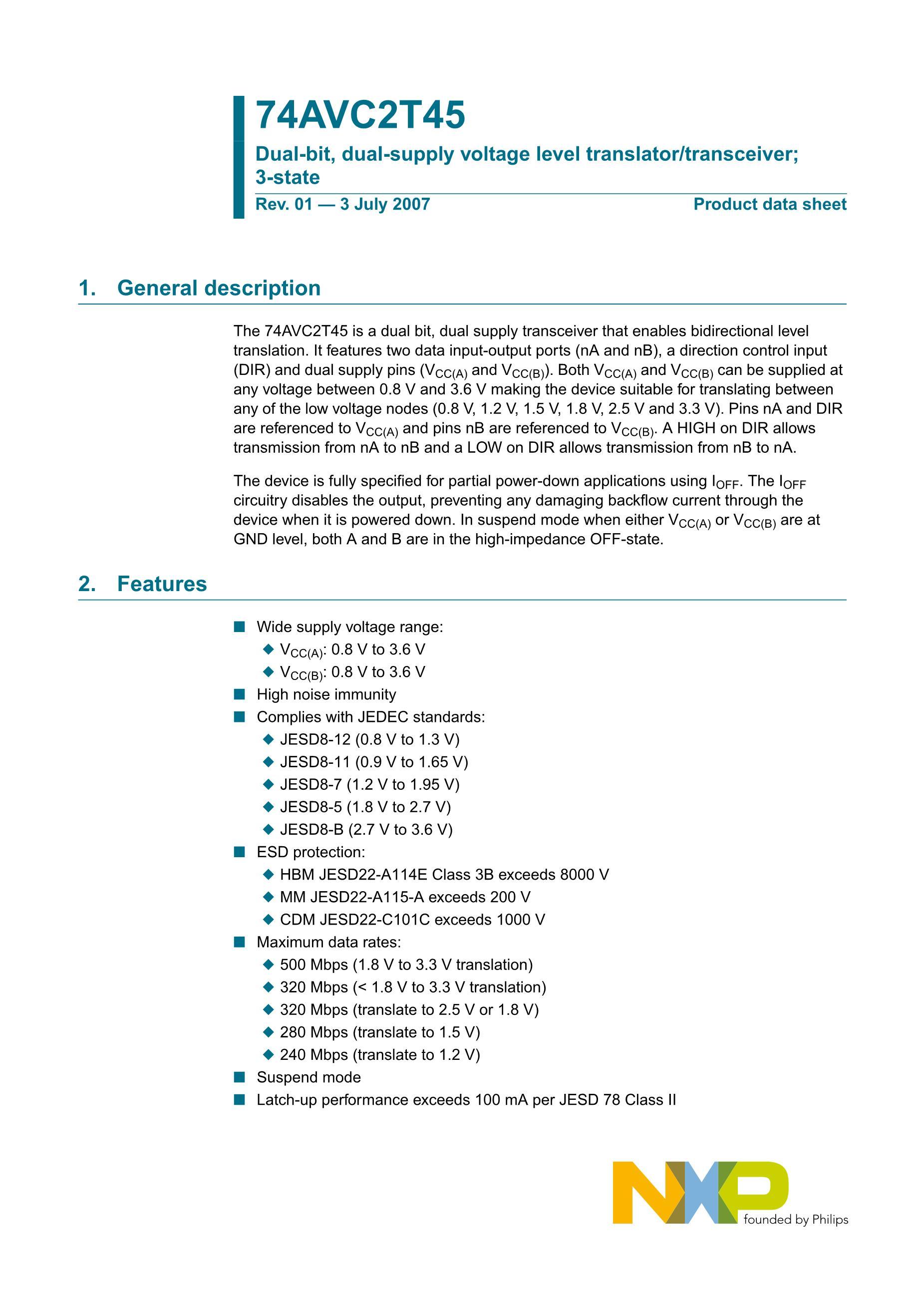 NXP Semicon TJA1042T/1J's pdf picture 1