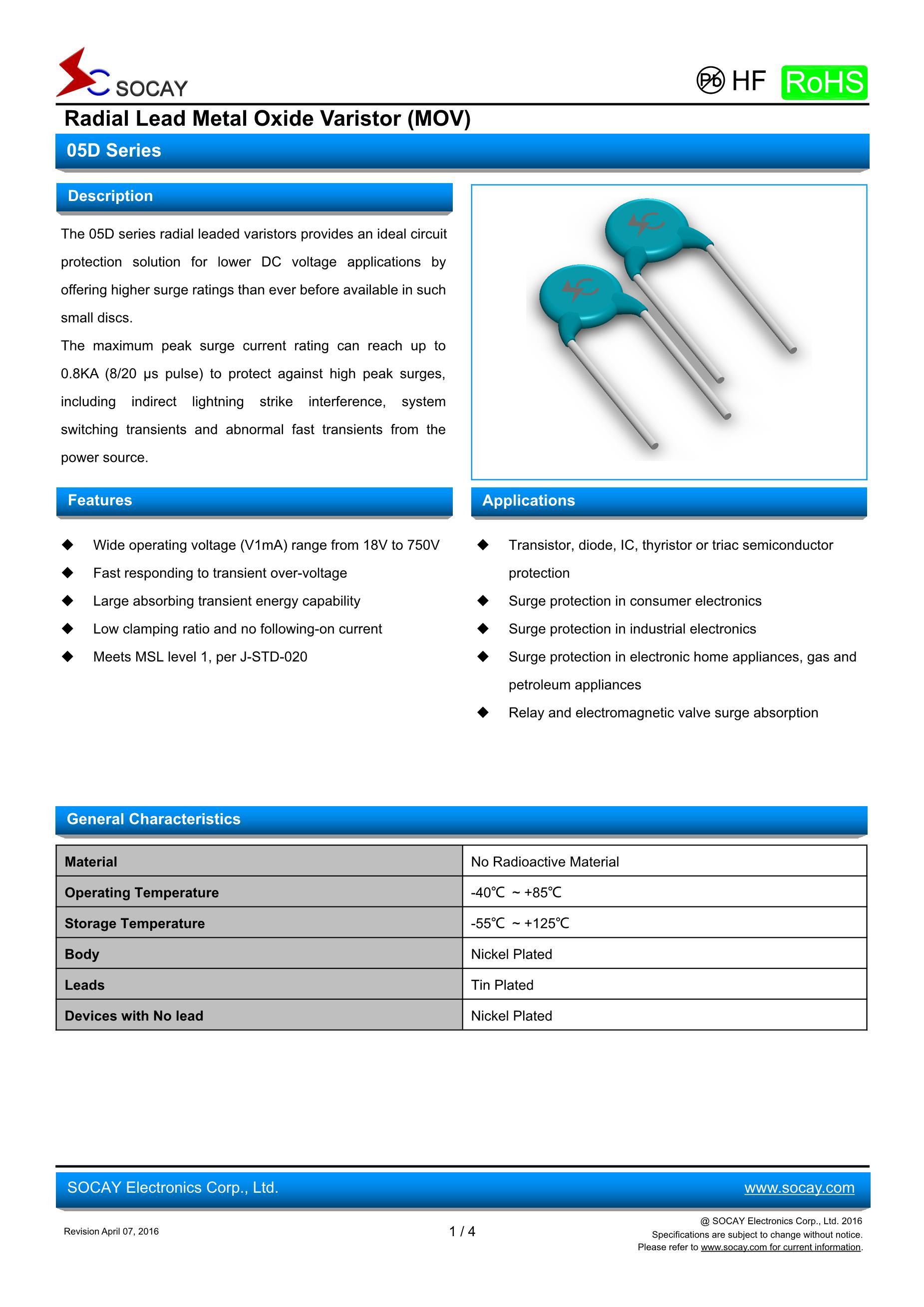 SOCAY Elec SMAJ30A(10pcs)'s pdf picture 1