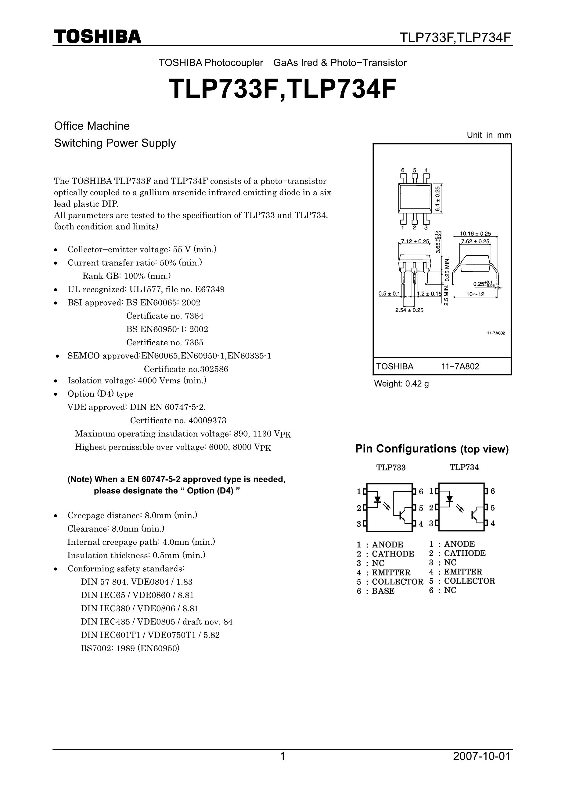TLP734FGB's pdf picture 1