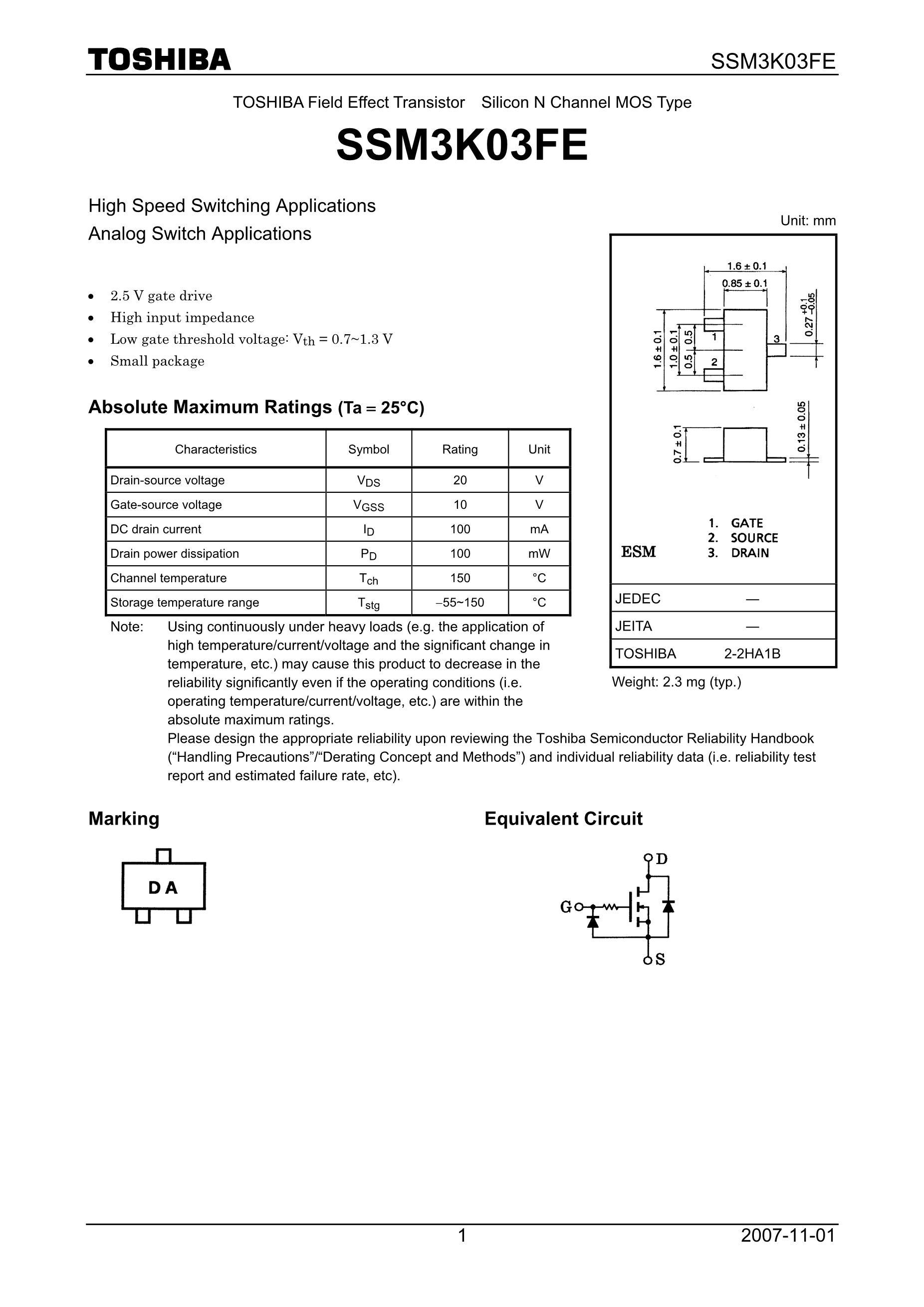SSM3K7002BF's pdf picture 1