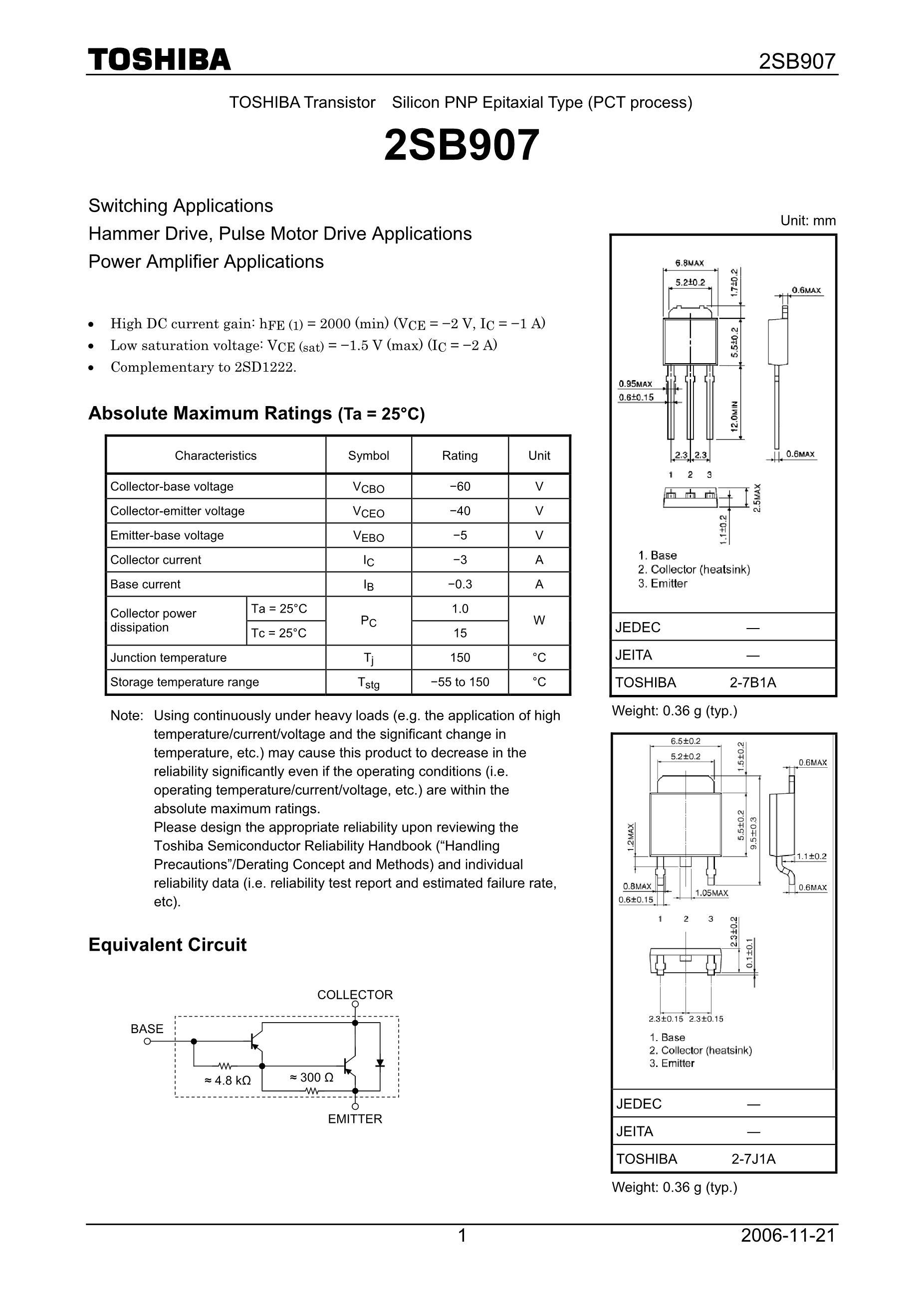2SB902-S's pdf picture 1