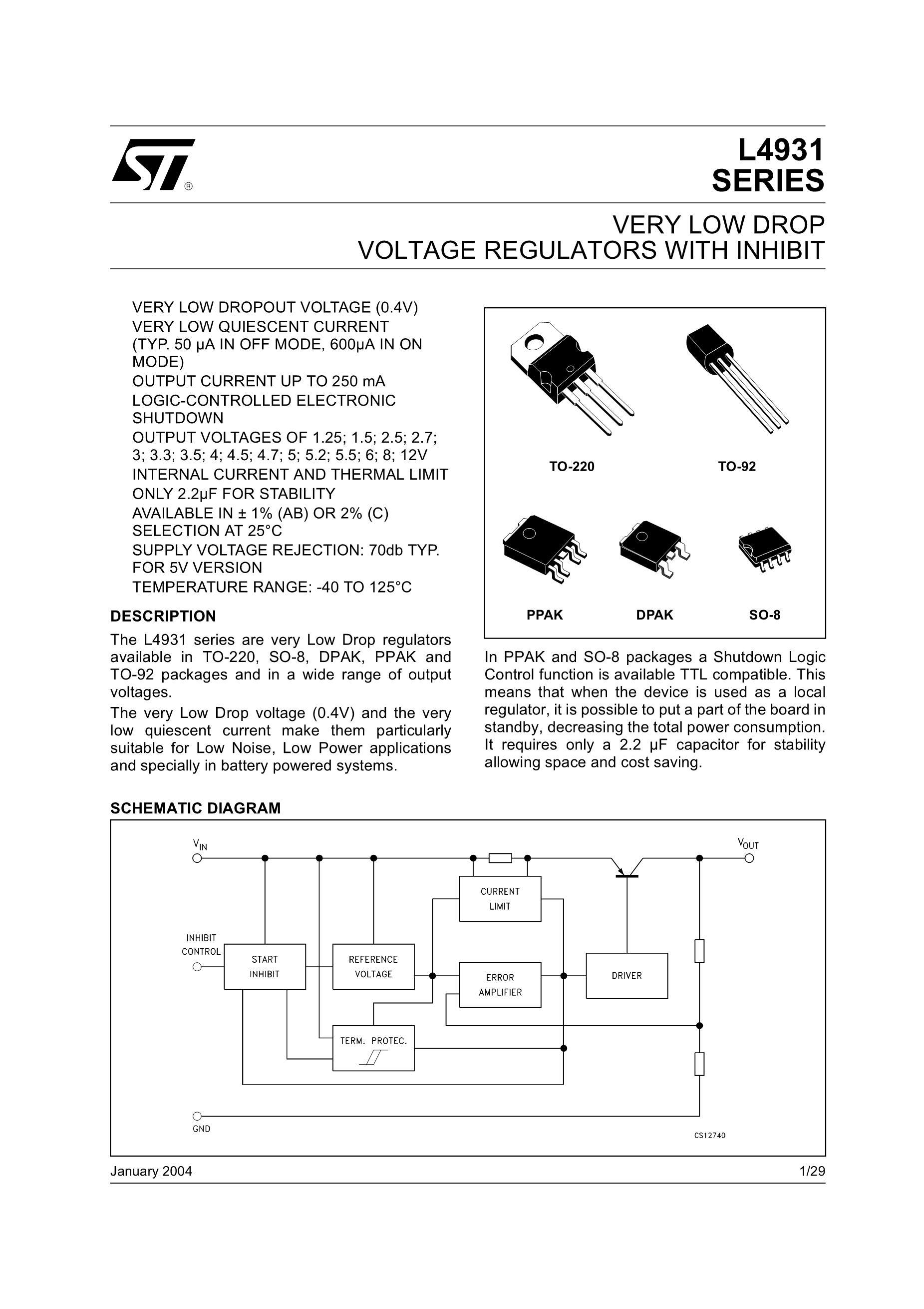 L4931ABD25TR's pdf picture 1