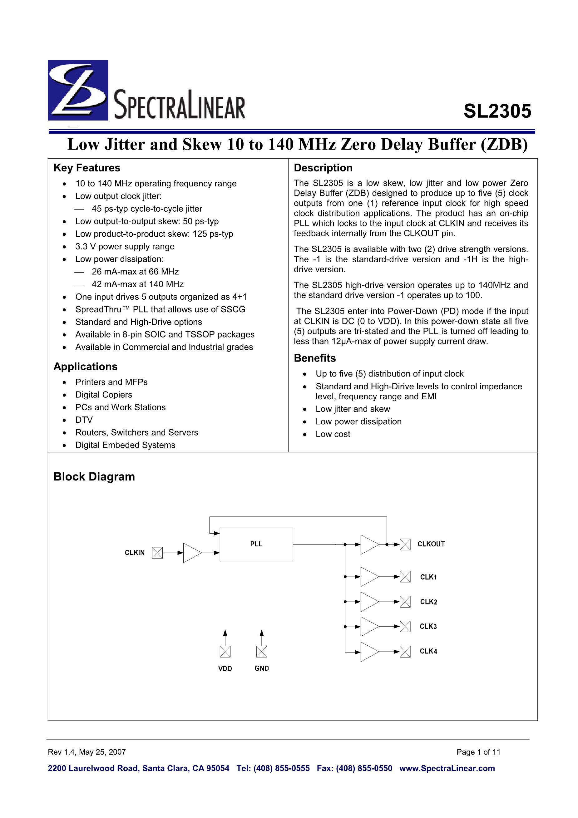 SL2309NZSI-1HT's pdf picture 1