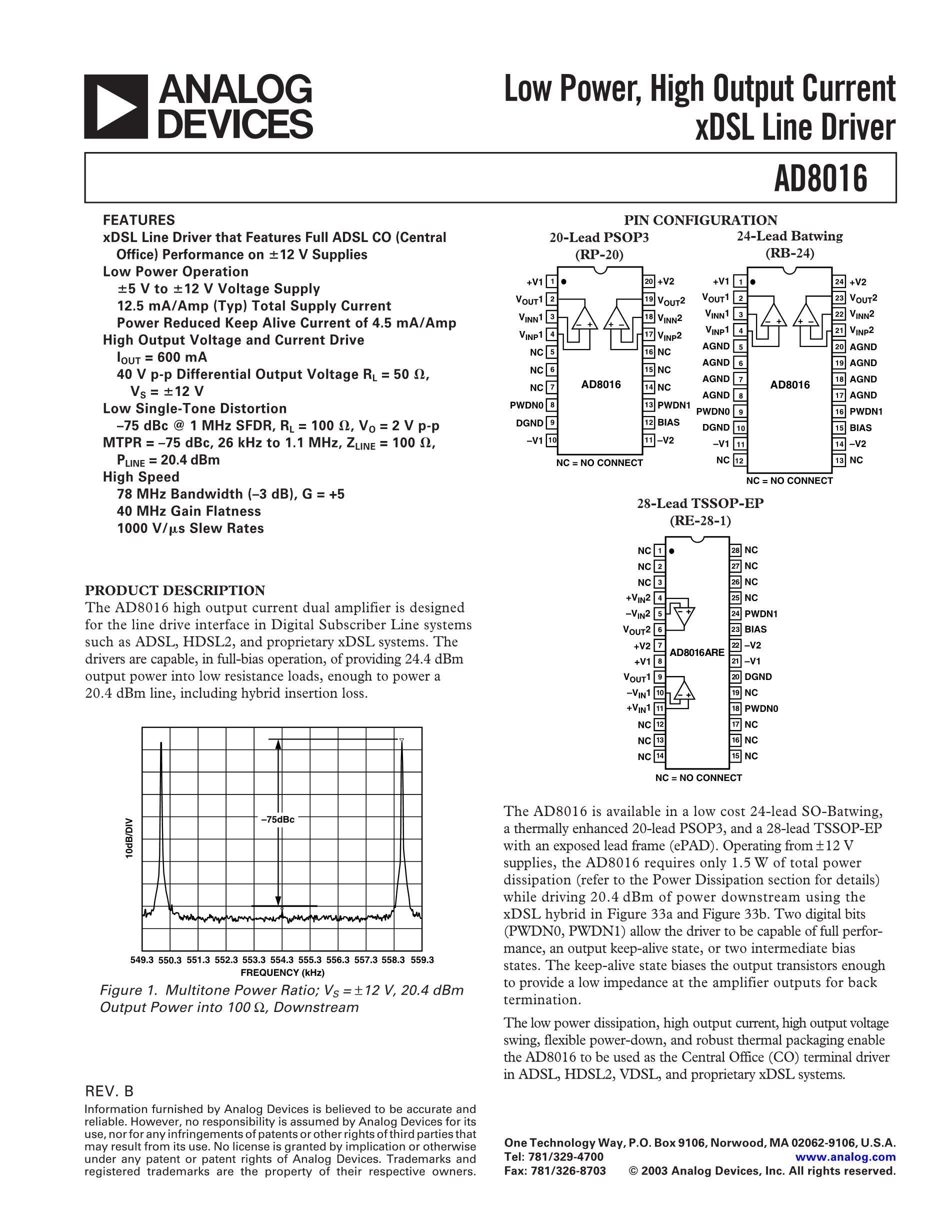 AD8016's pdf picture 1