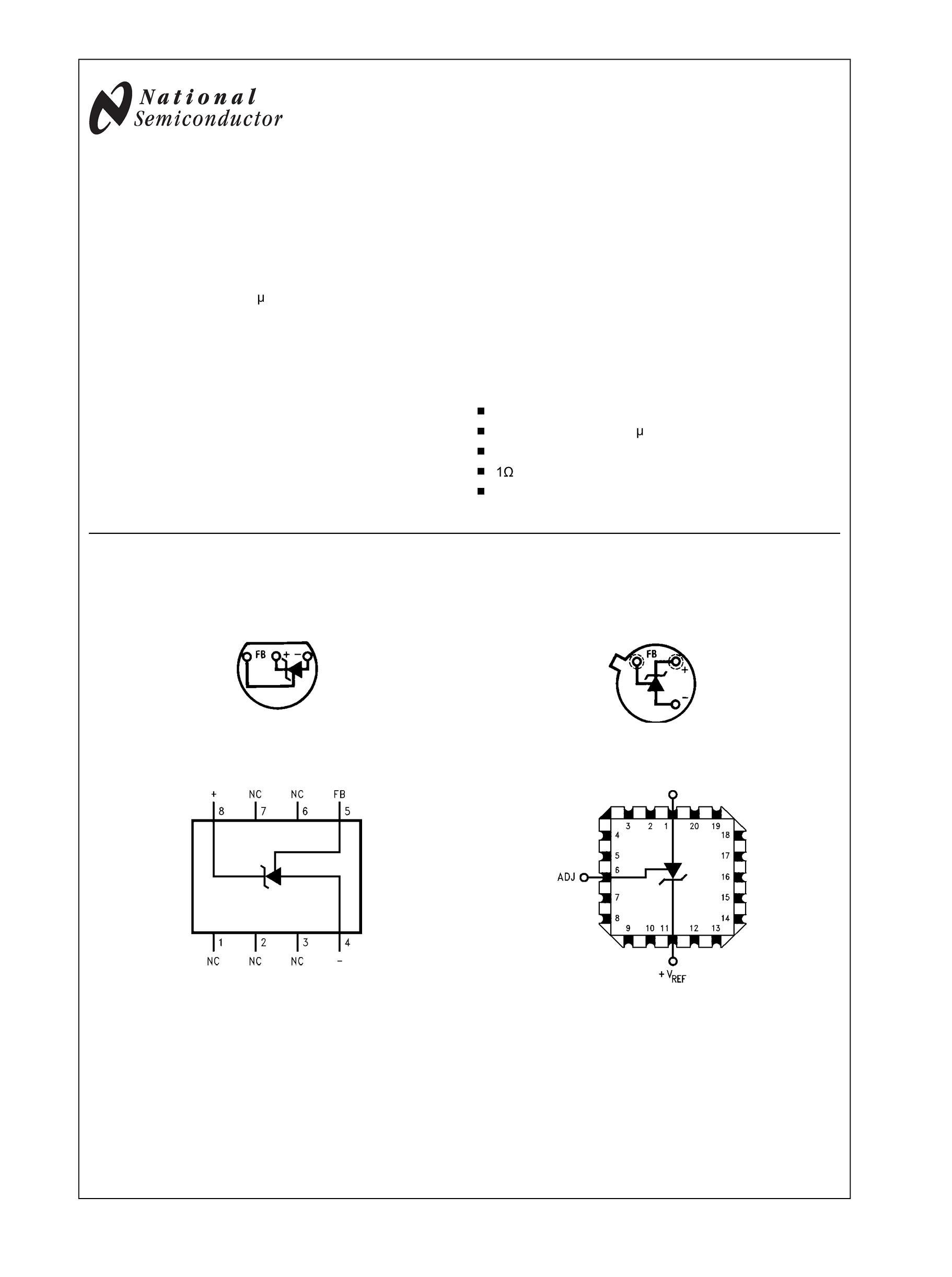 LM285Z-2.5/NOPB's pdf picture 1