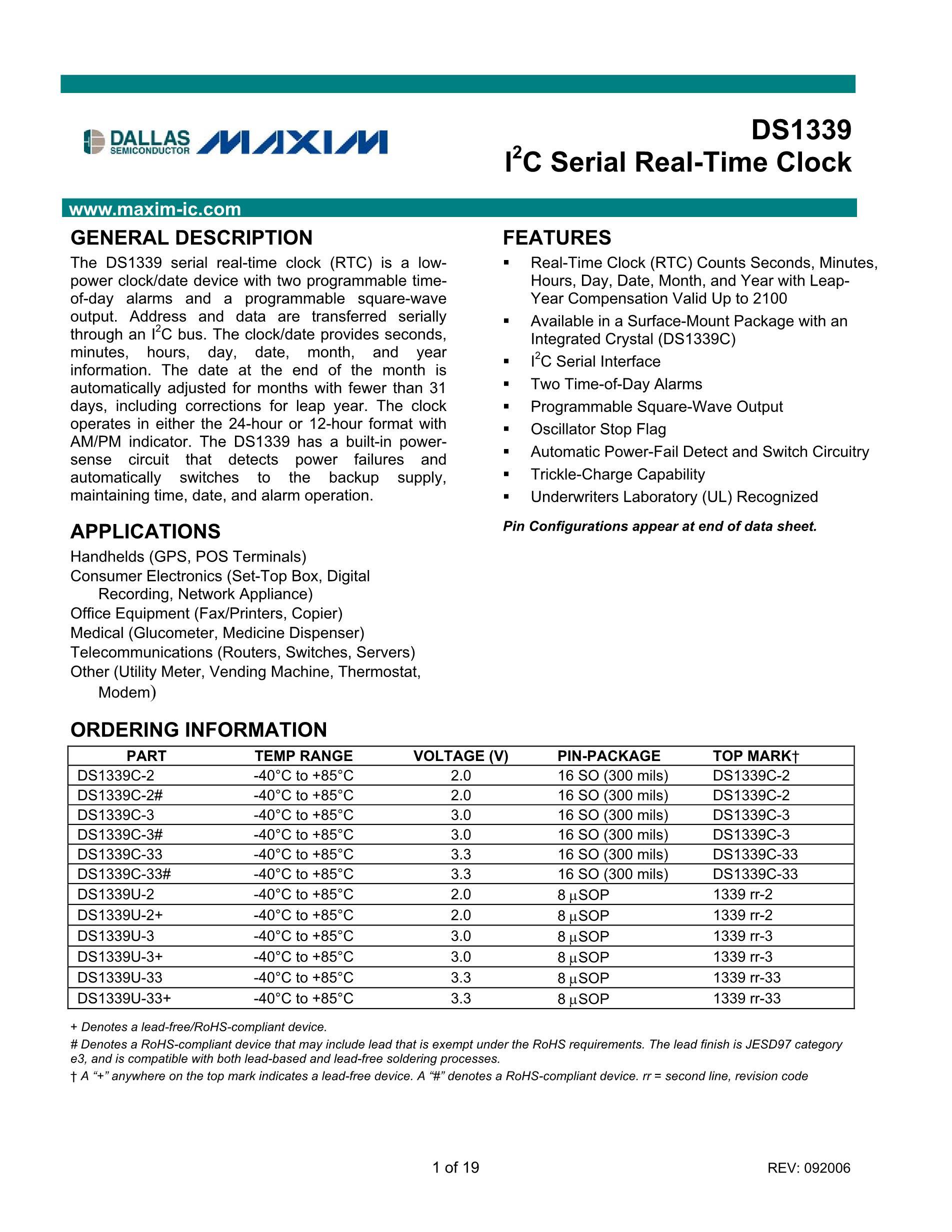 DS1339U-2+'s pdf picture 1