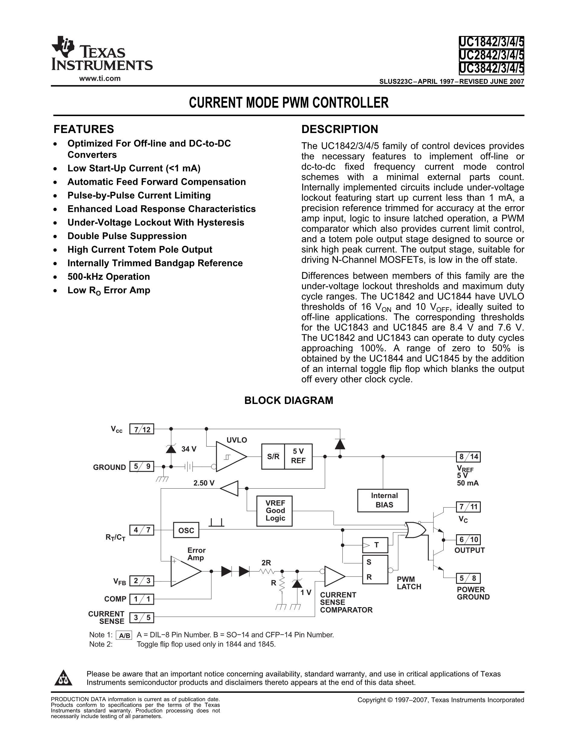 UC2842AD1013TR's pdf picture 1