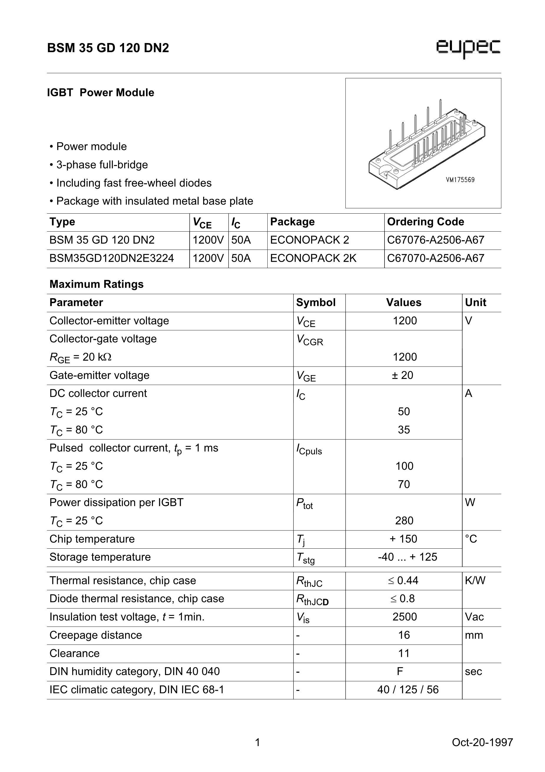 BSM300GA170DN2S's pdf picture 1