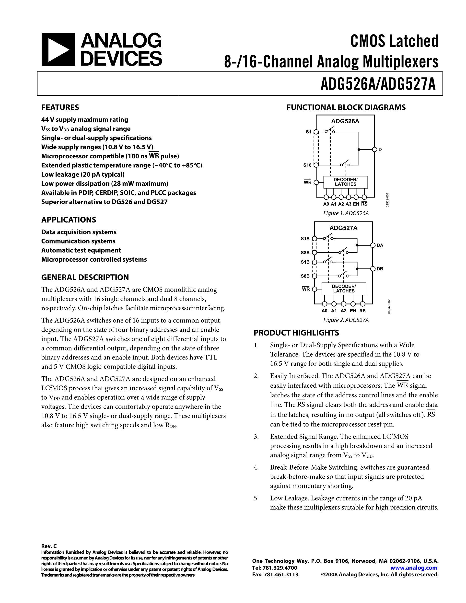 ADG506AKR's pdf picture 1