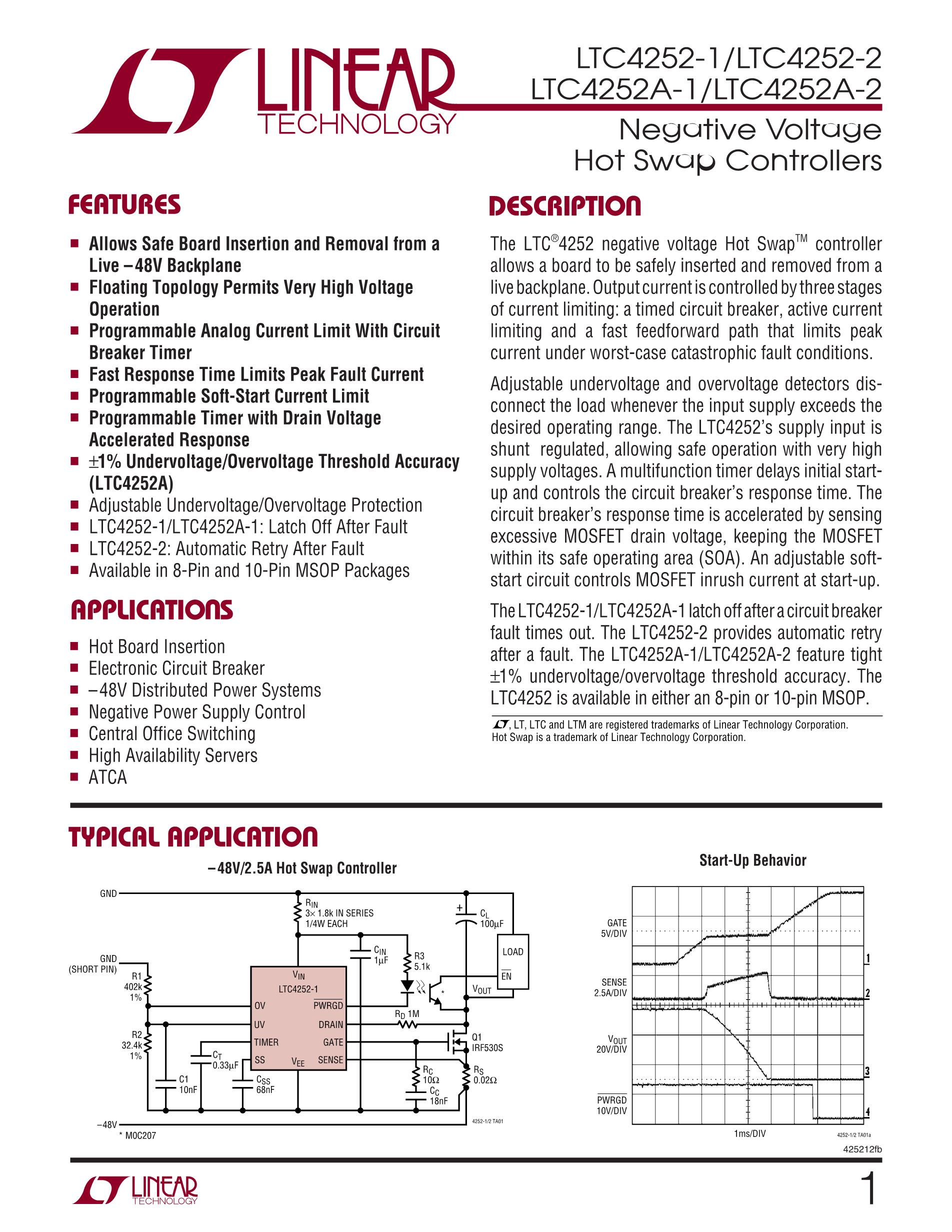 LTC4252-2IMS8#TR's pdf picture 1