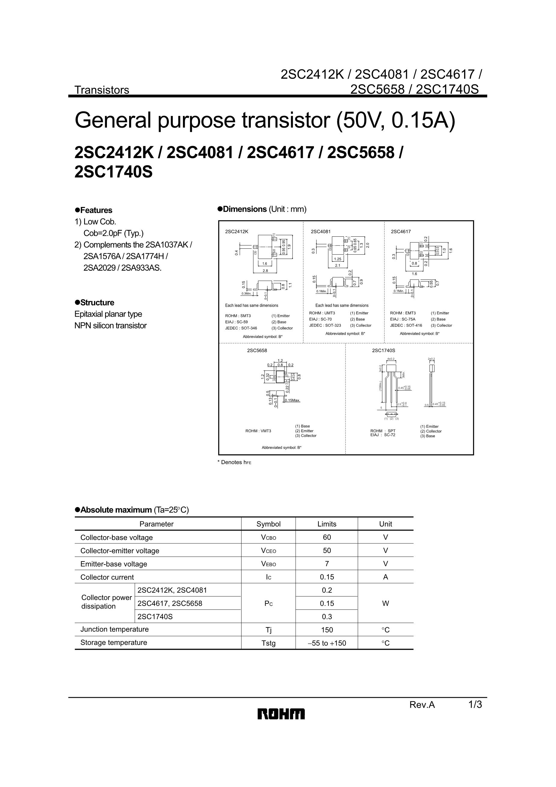 2SC4738/LG's pdf picture 1