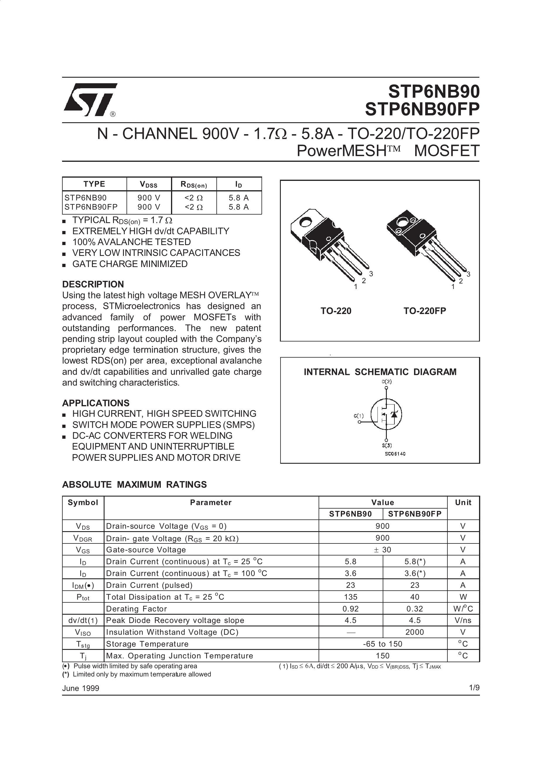 STP6NK90ZFP's pdf picture 1