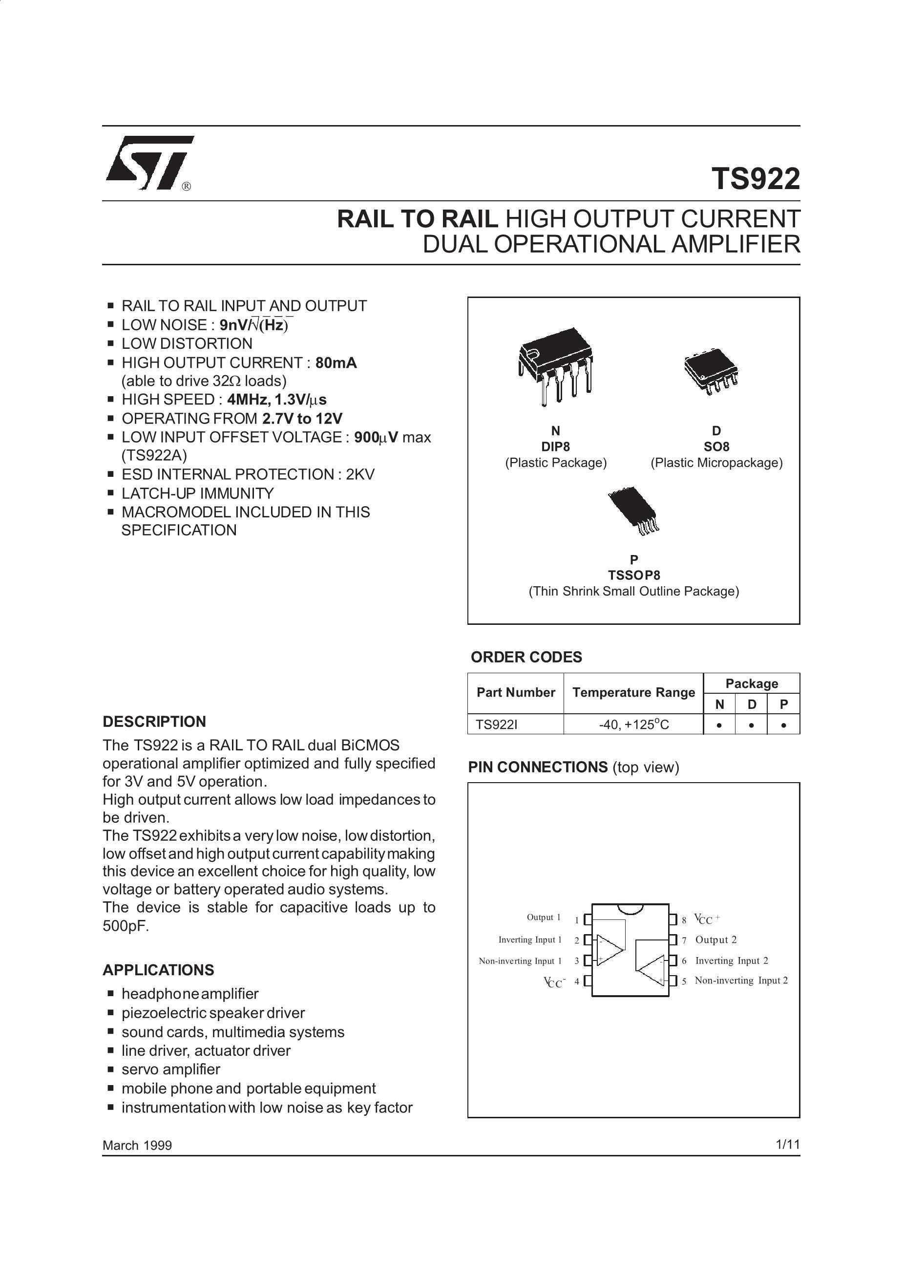 TS922AIN's pdf picture 1
