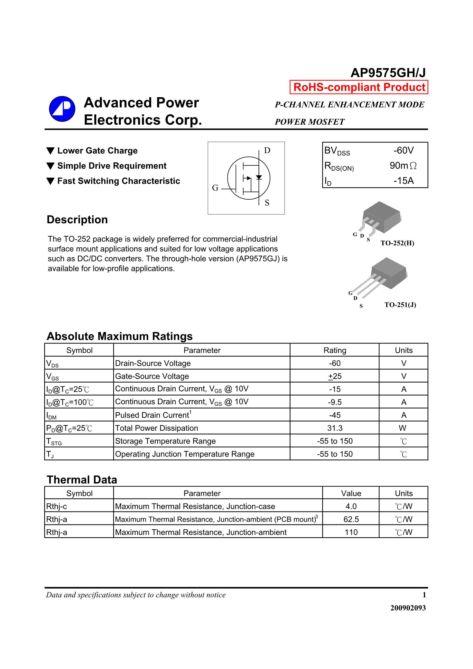 AP9575GS's pdf picture 1