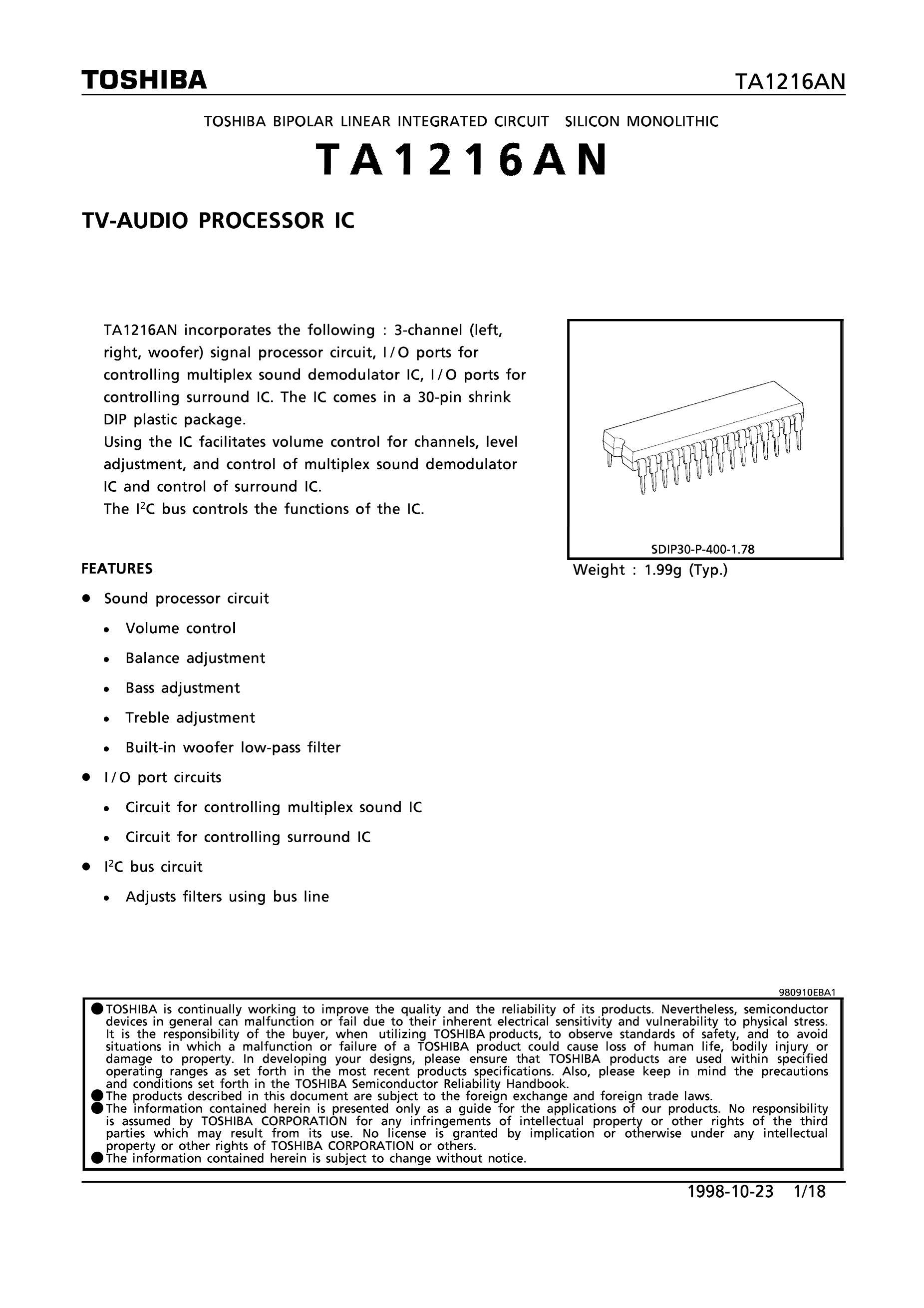 TA1251CF's pdf picture 1