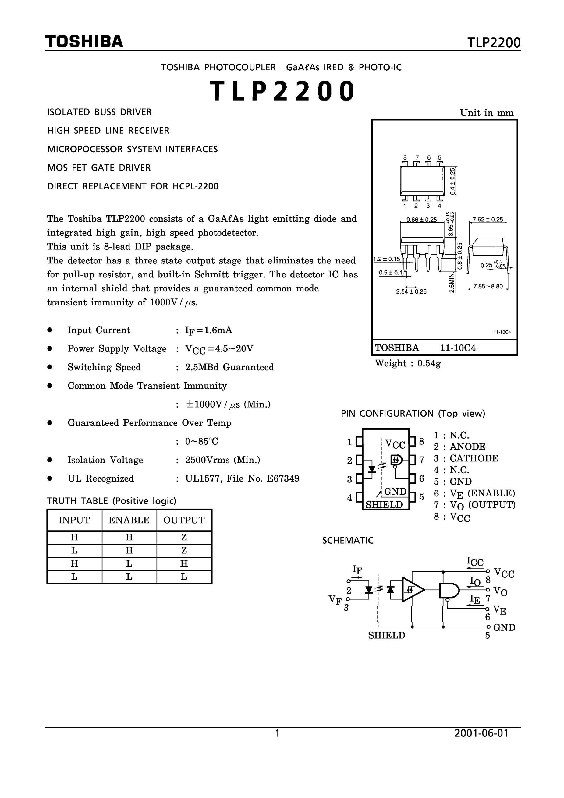 TLP280(GB,F)'s pdf picture 1