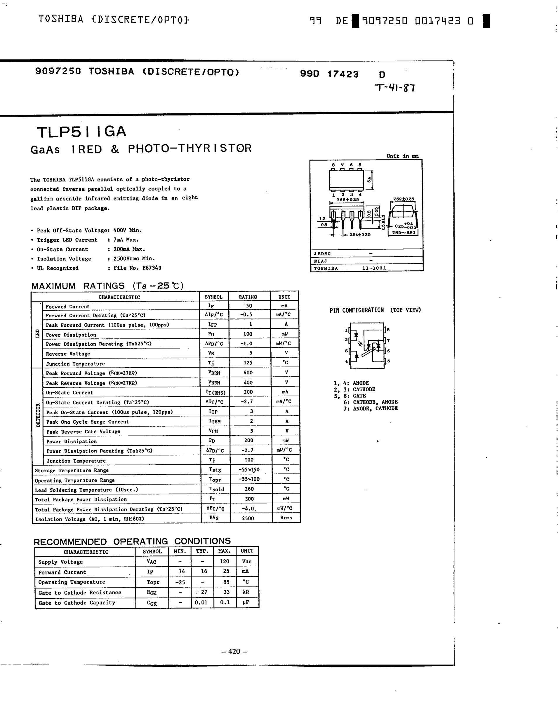 TLP521-2XGBSMTR's pdf picture 1