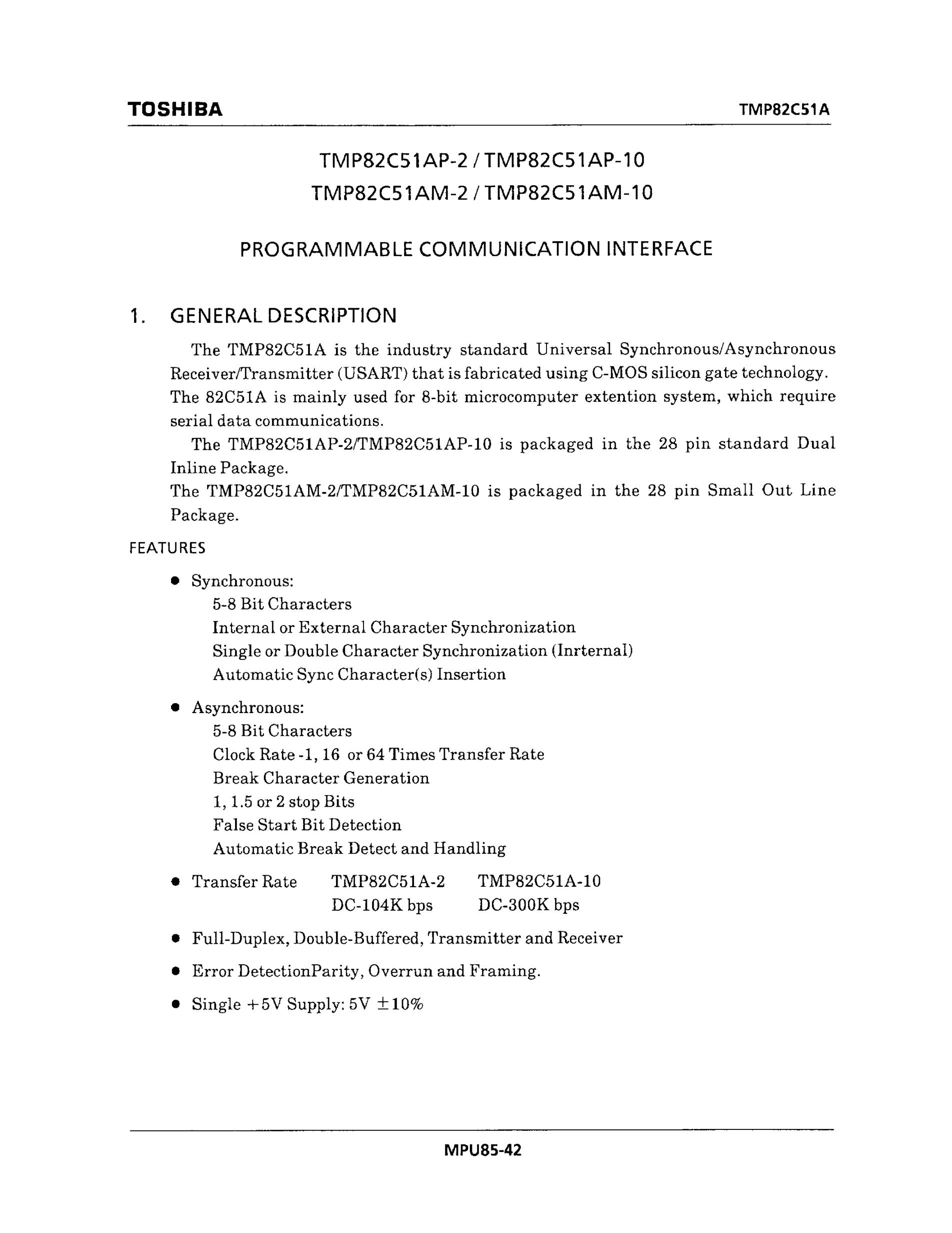 TMP86CP11AN-3HE5's pdf picture 1
