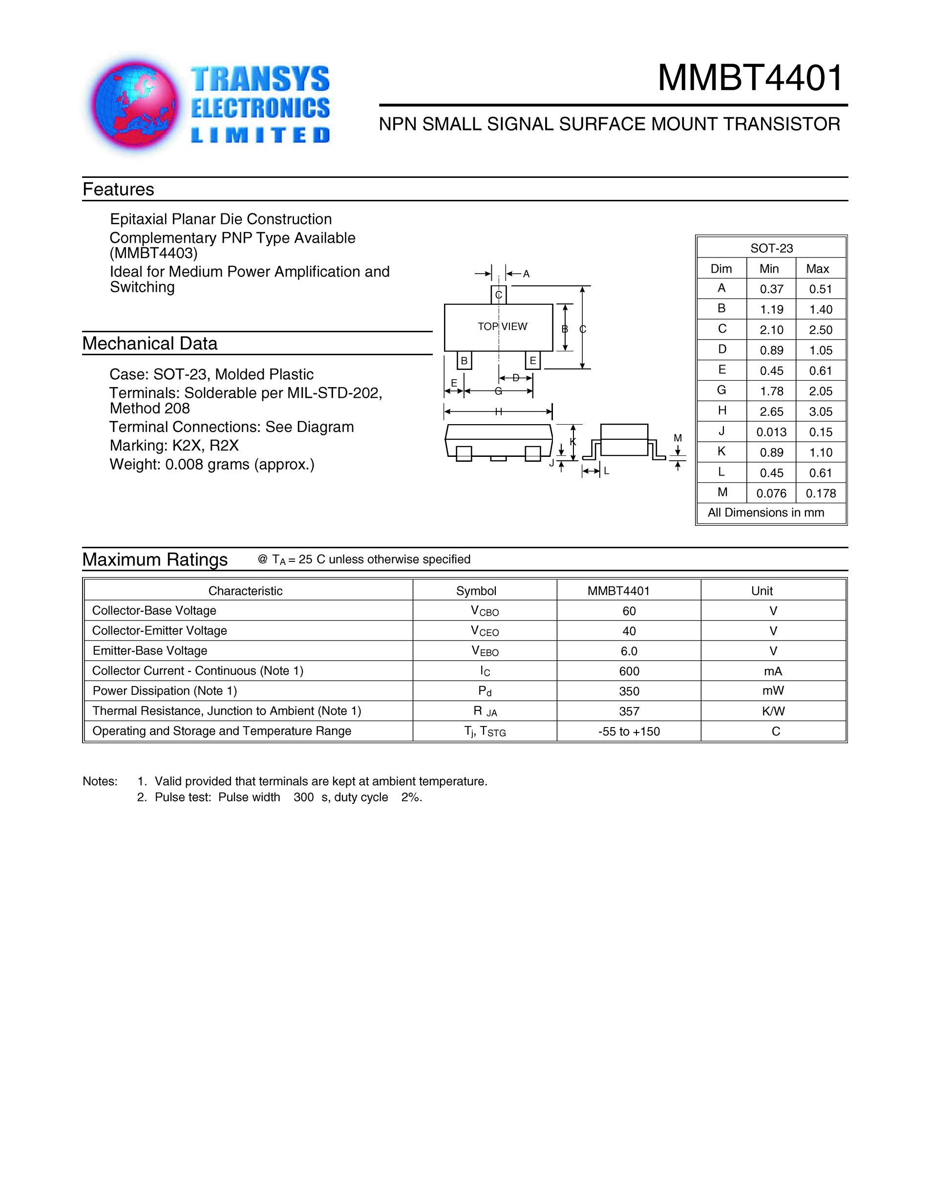MMBT5401-B/2L's pdf picture 1