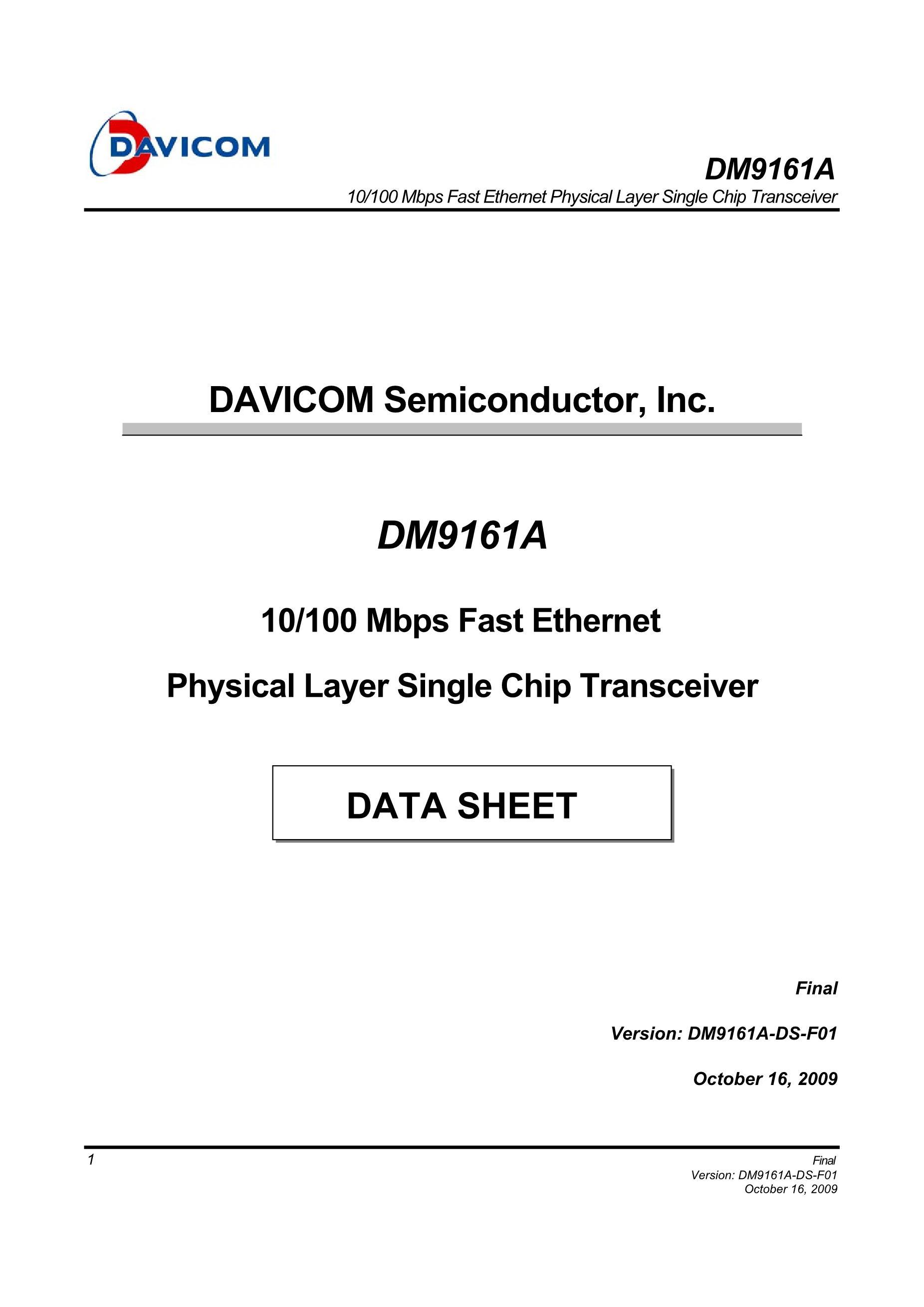 DM9101F's pdf picture 1