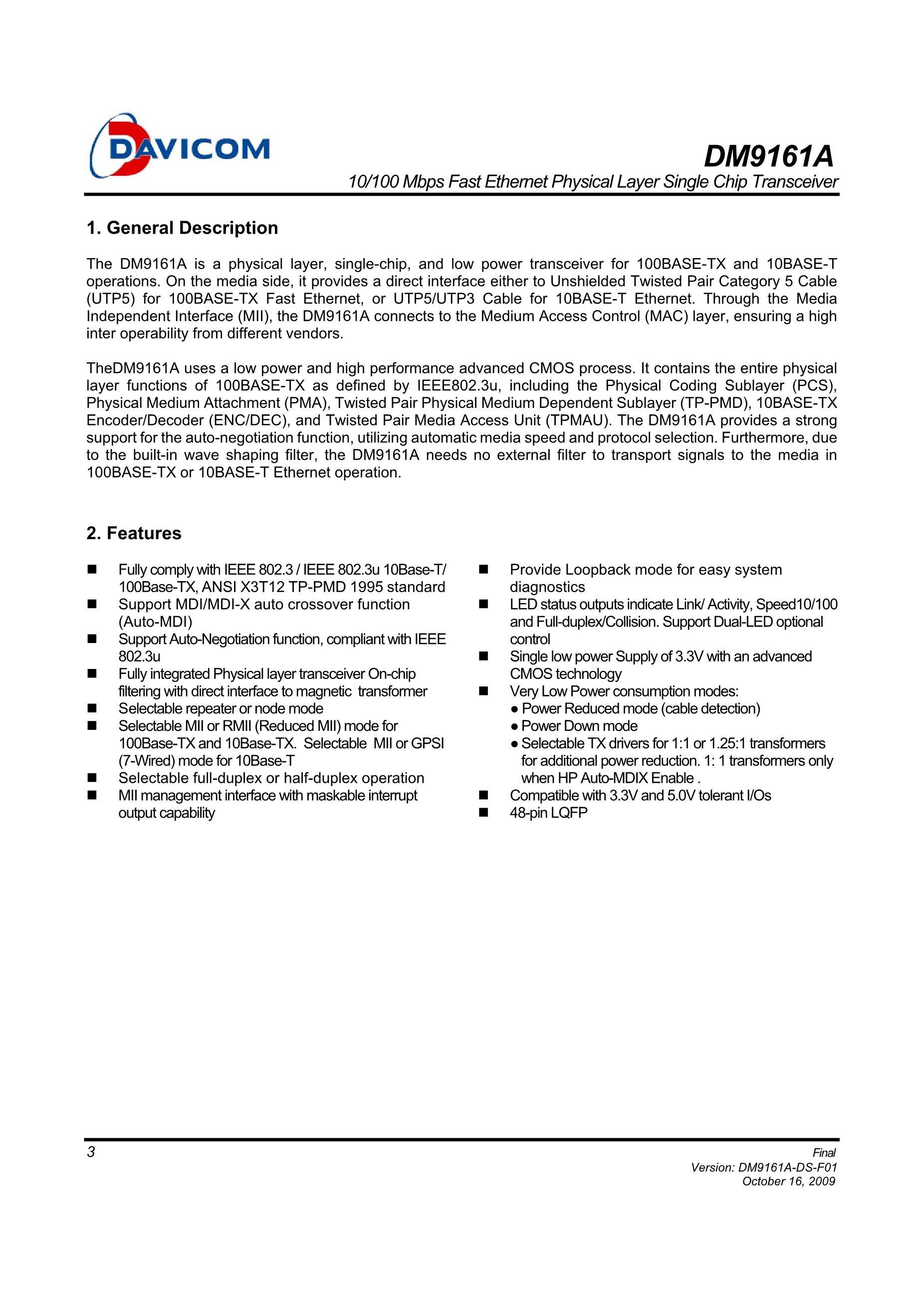 DM9101F's pdf picture 3