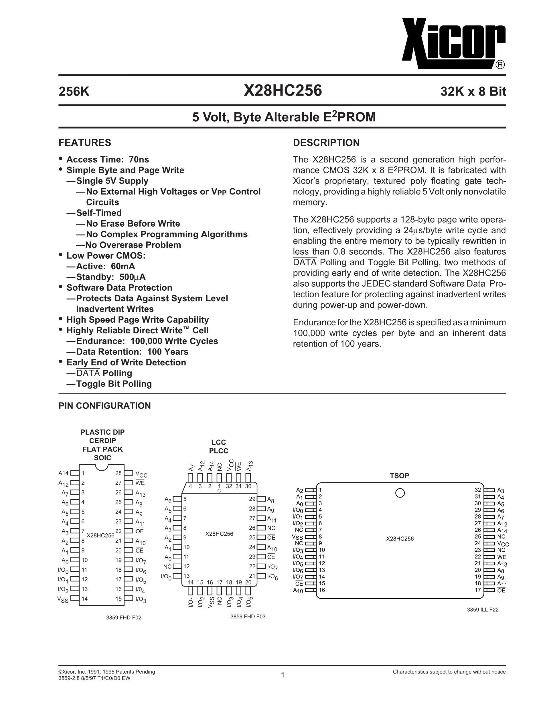 X28HC16S-12's pdf picture 1