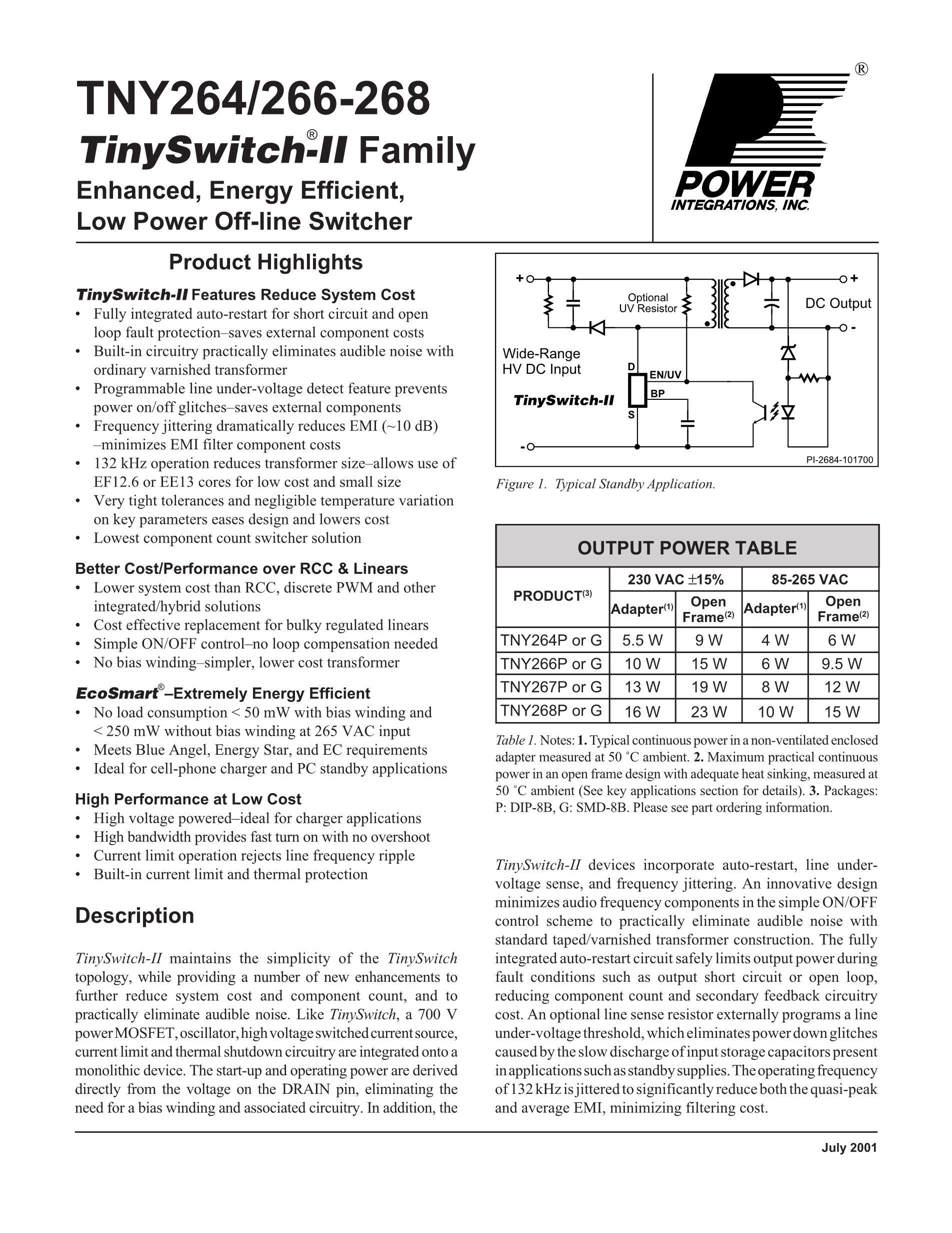 TNY266G's pdf picture 1