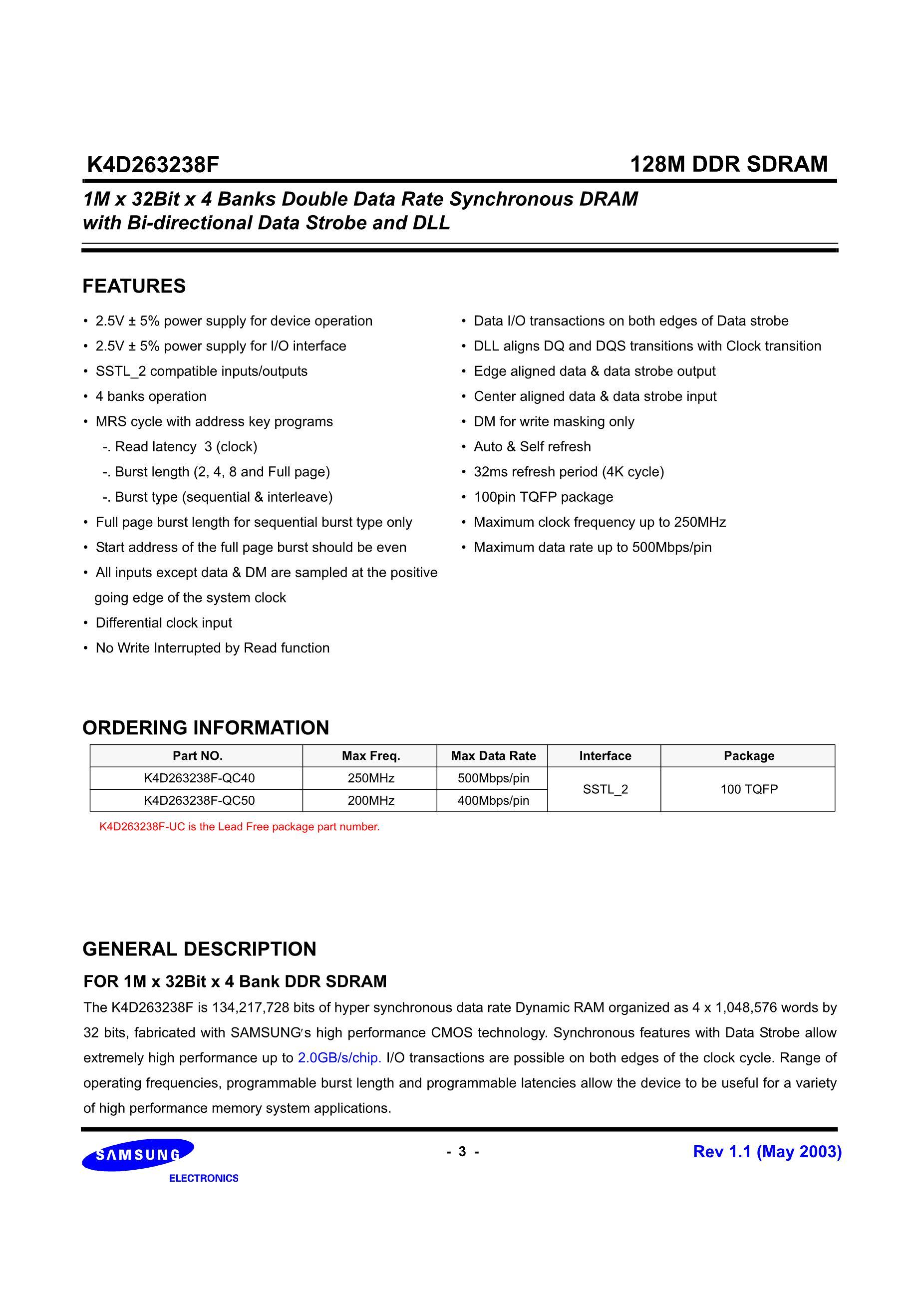 K4D263238E-GC36's pdf picture 3