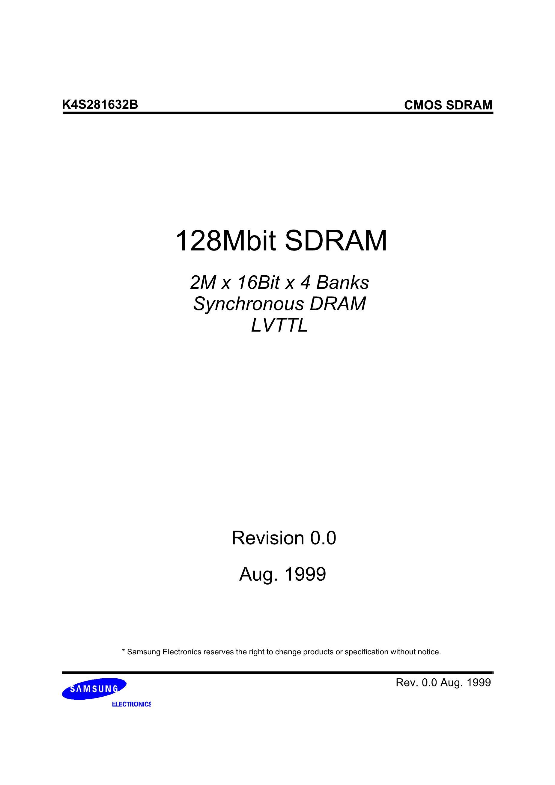 K4S280432C-TC1L's pdf picture 1