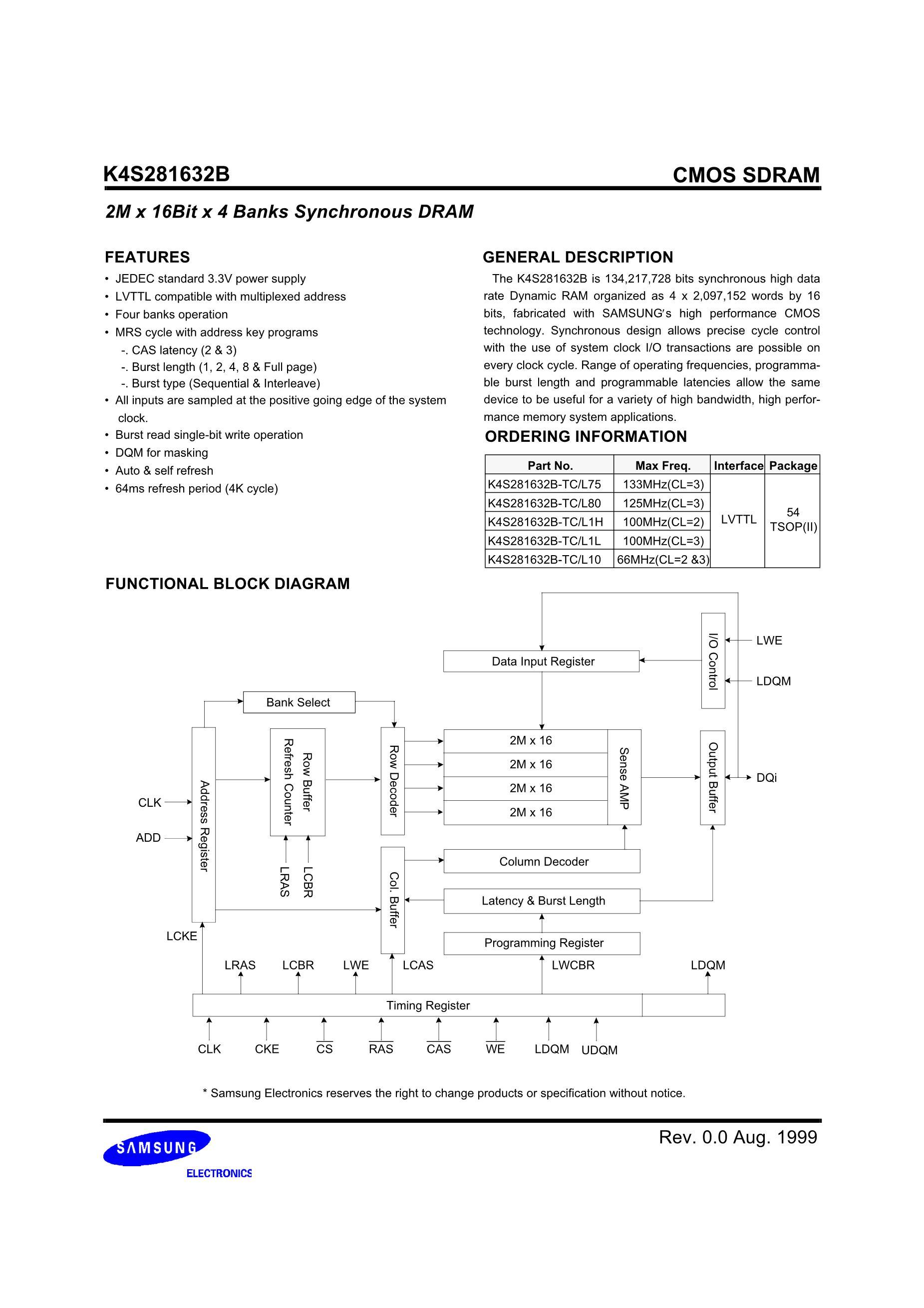 K4S280432C-TC1L's pdf picture 2