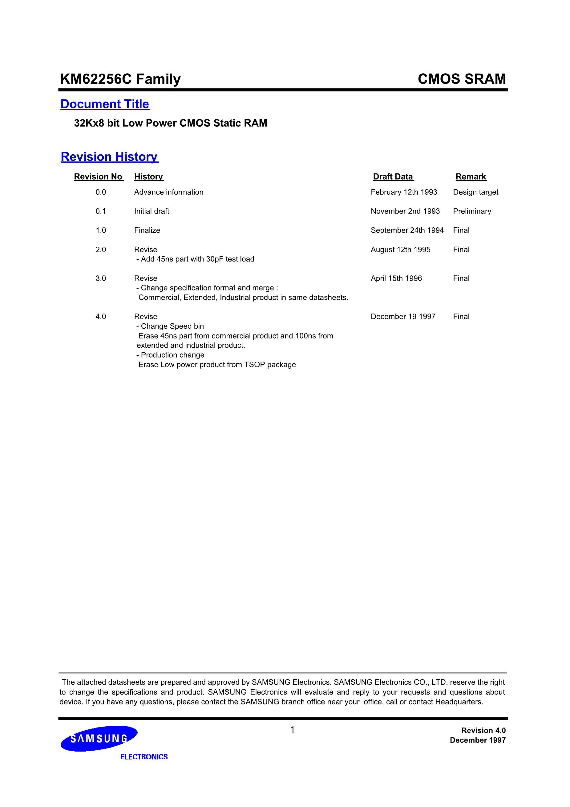 KM62256CLP-7L's pdf picture 1