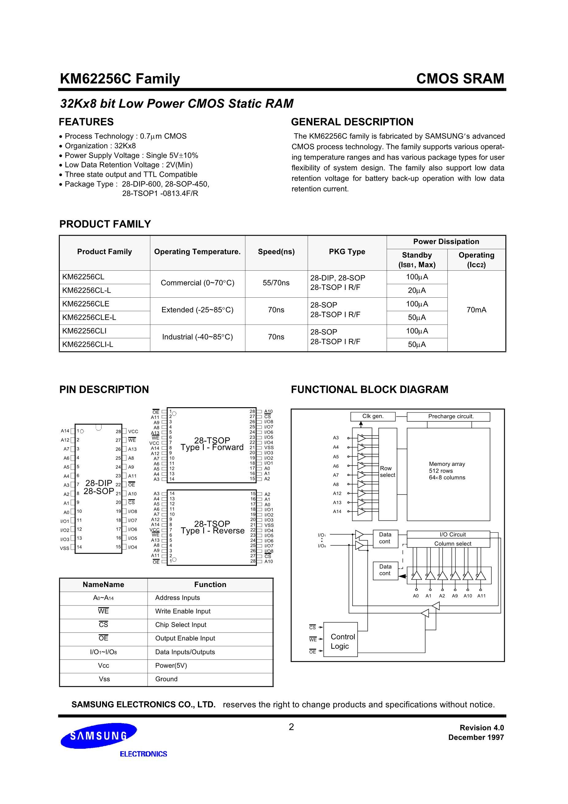 KM62256CLP-7L's pdf picture 2
