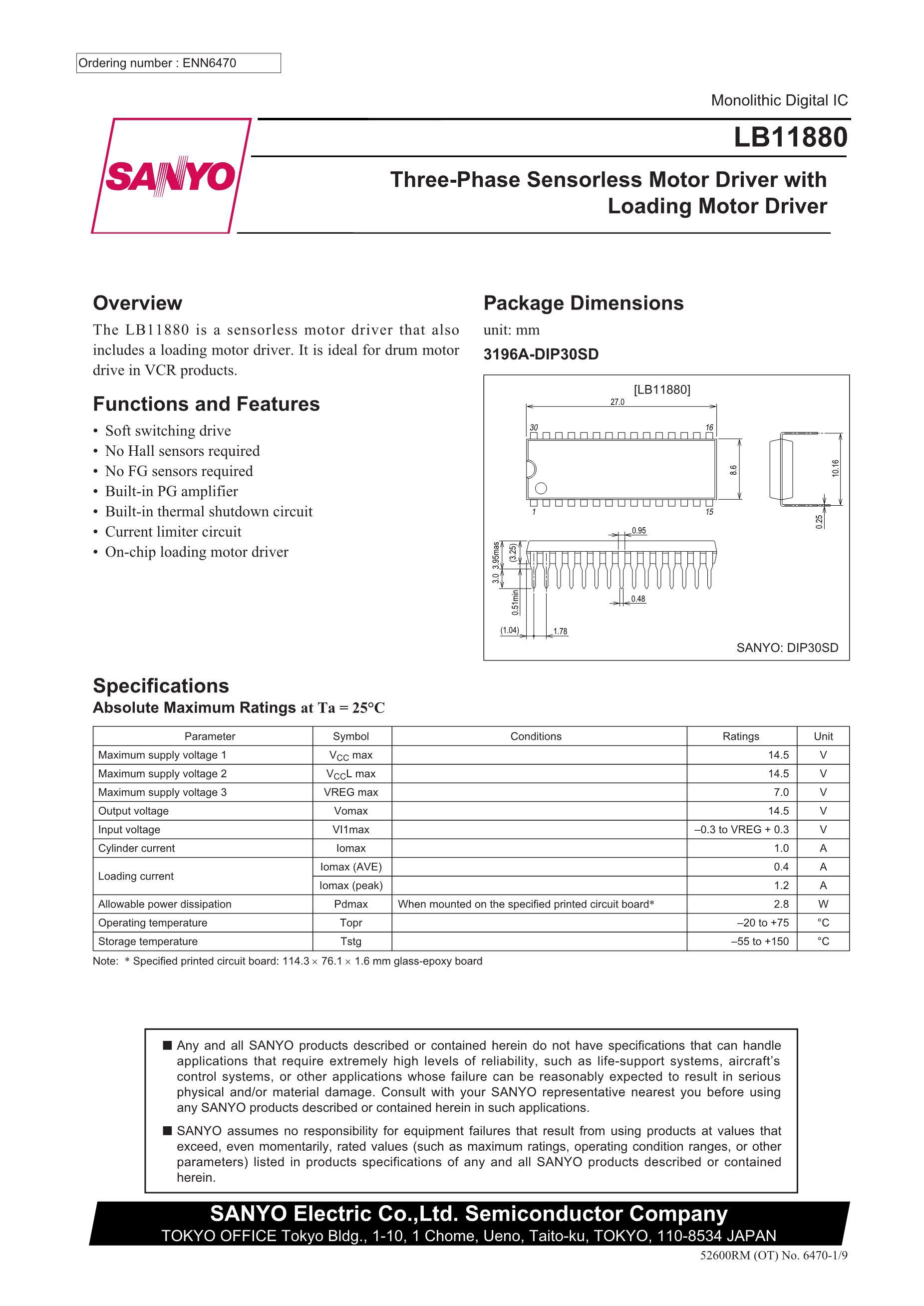 LB11850VA-TLM-H's pdf picture 1